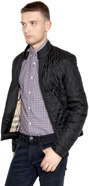 Burberry Brit Mandarin Collar Quilted Casual Jacket In