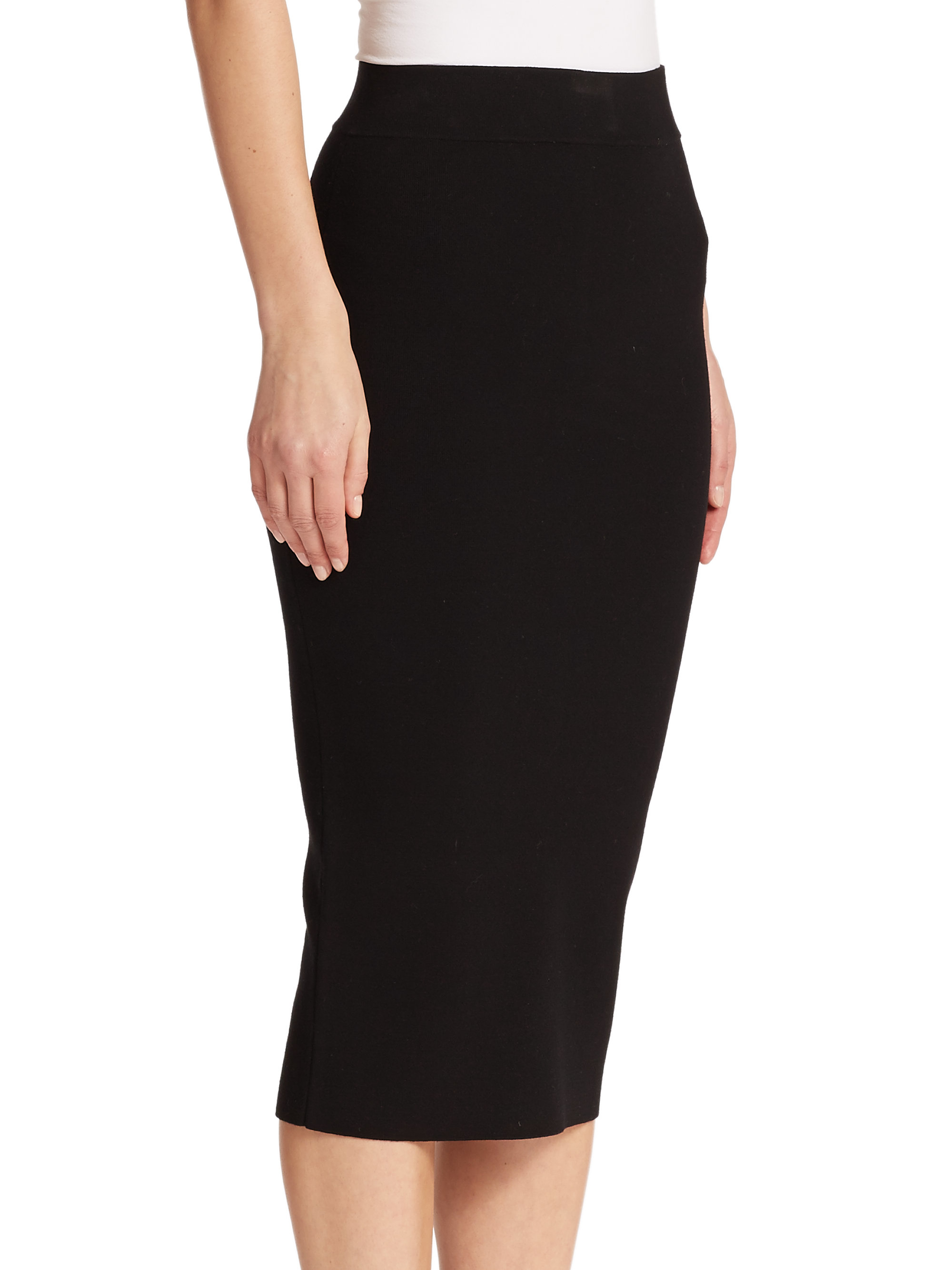 7bf246a3eb Black Fitted Pencil Skirt