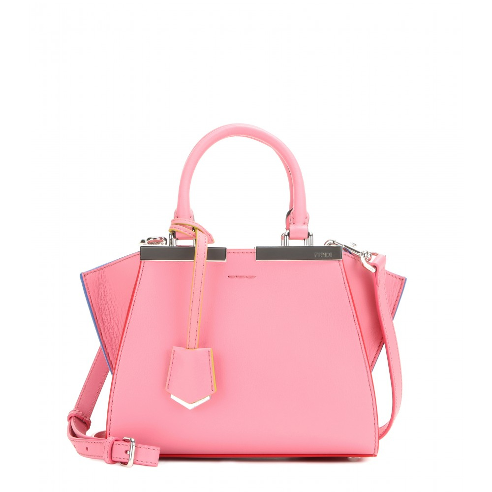 5b8096d6768e Fendi 3jours Mini Leather Tote in Pink - Lyst