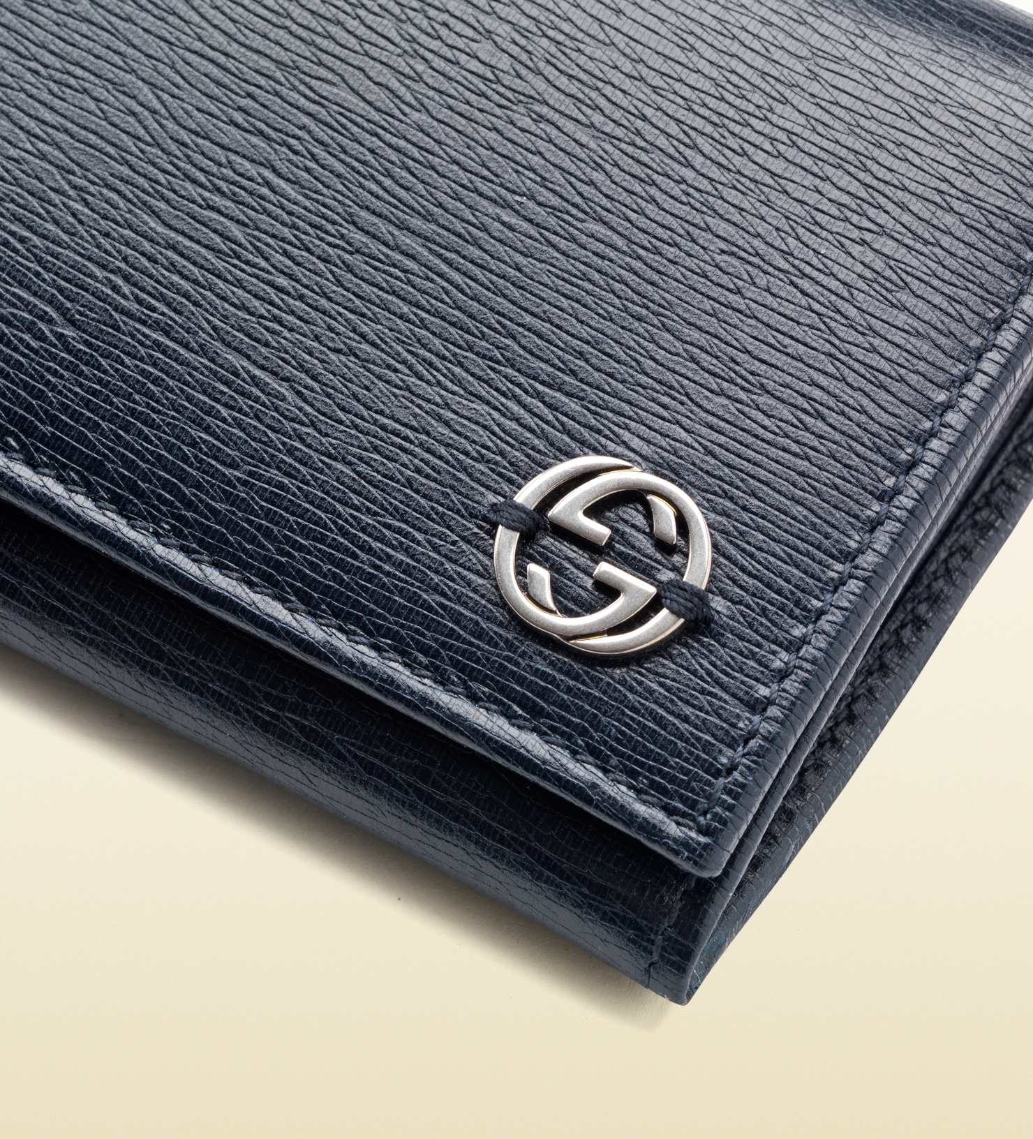 Lyst - Gucci Leather Continental Wallet in Blue for Men