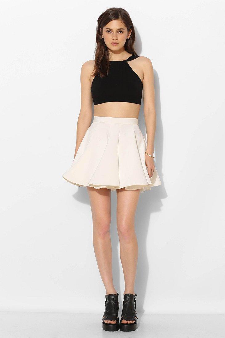 All White Skirt - Skirts