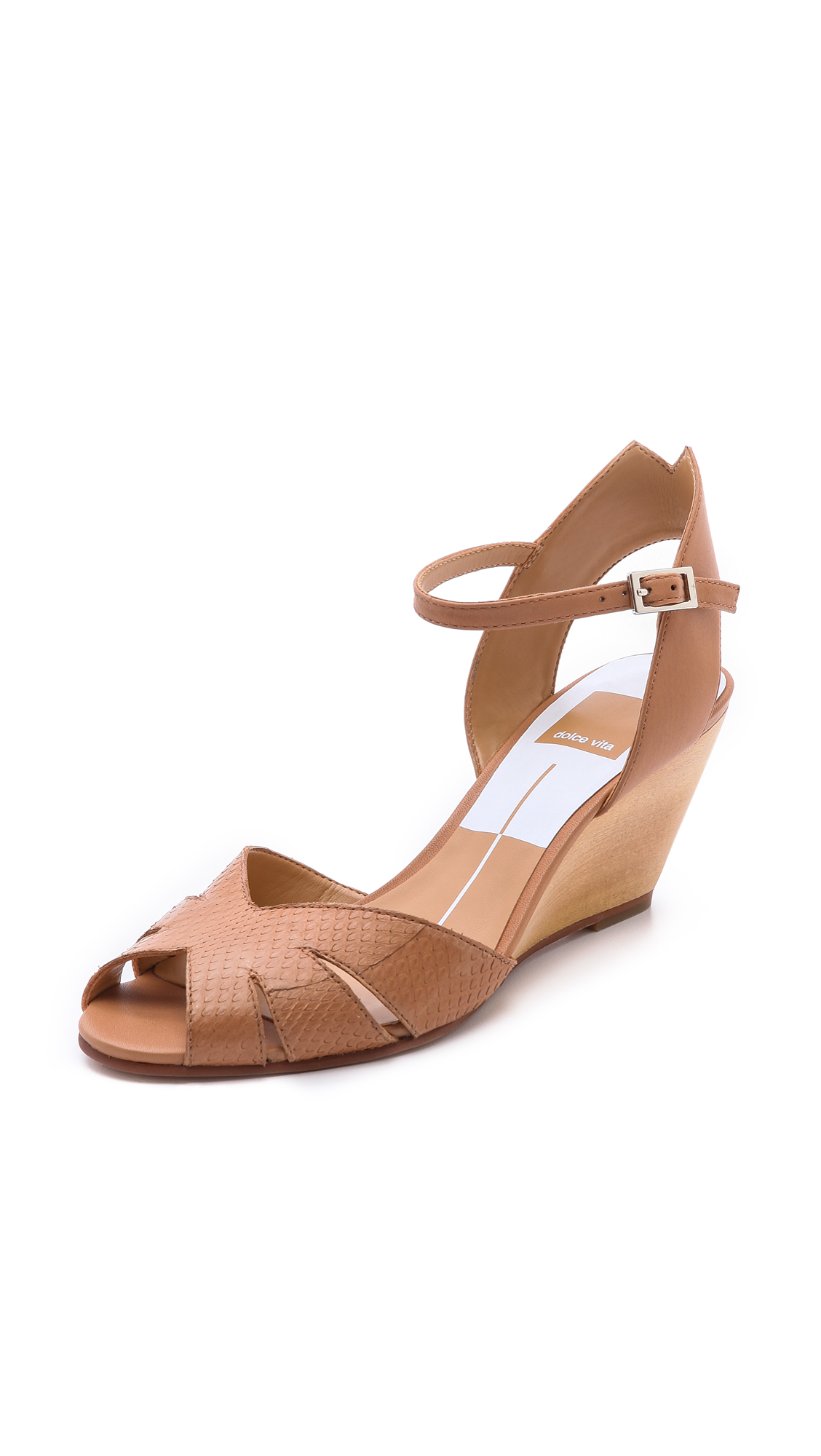Lyst Dolce Vita Kimbra Wedge Sandals In Brown
