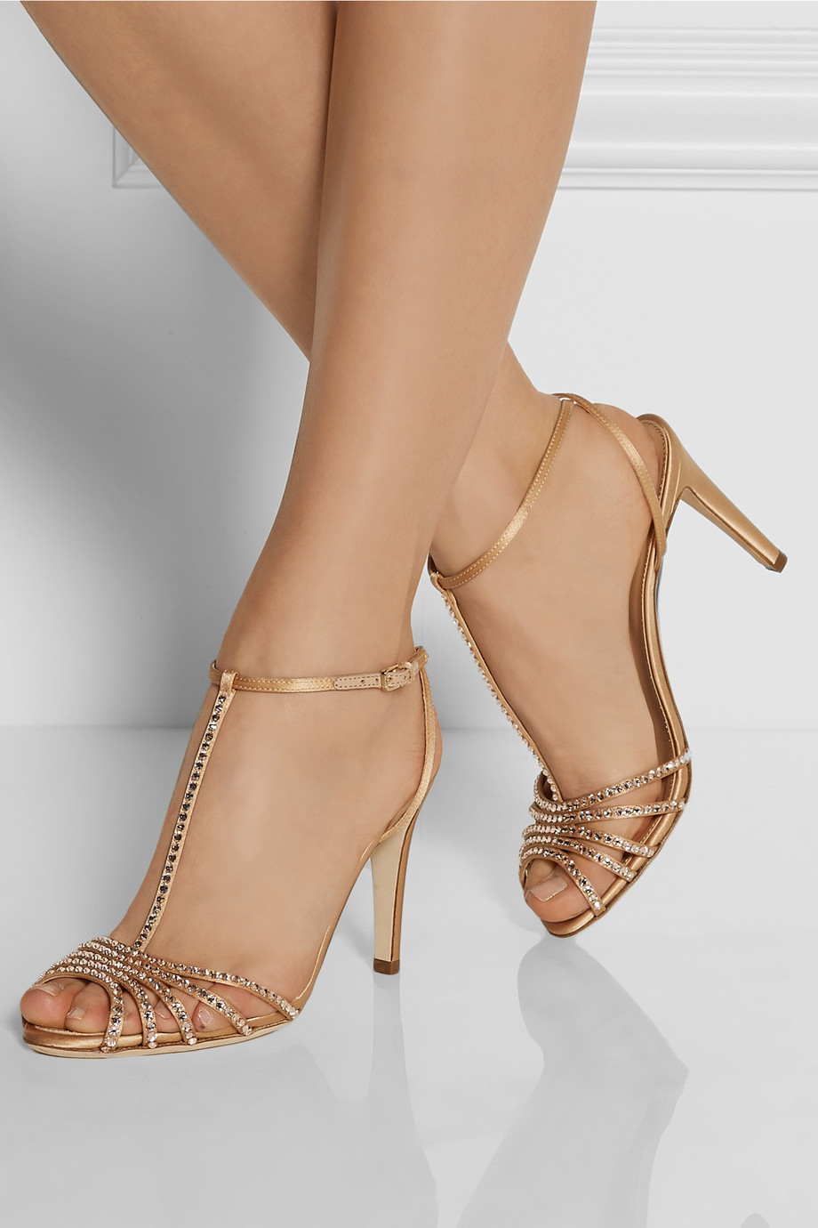 Sergio Rossi Metallic Crystal-Embellished Sandals buy cheap under $60 clearance exclusive cheap sale comfortable buy cheap perfect free shipping cheap price GeOwP8lerV