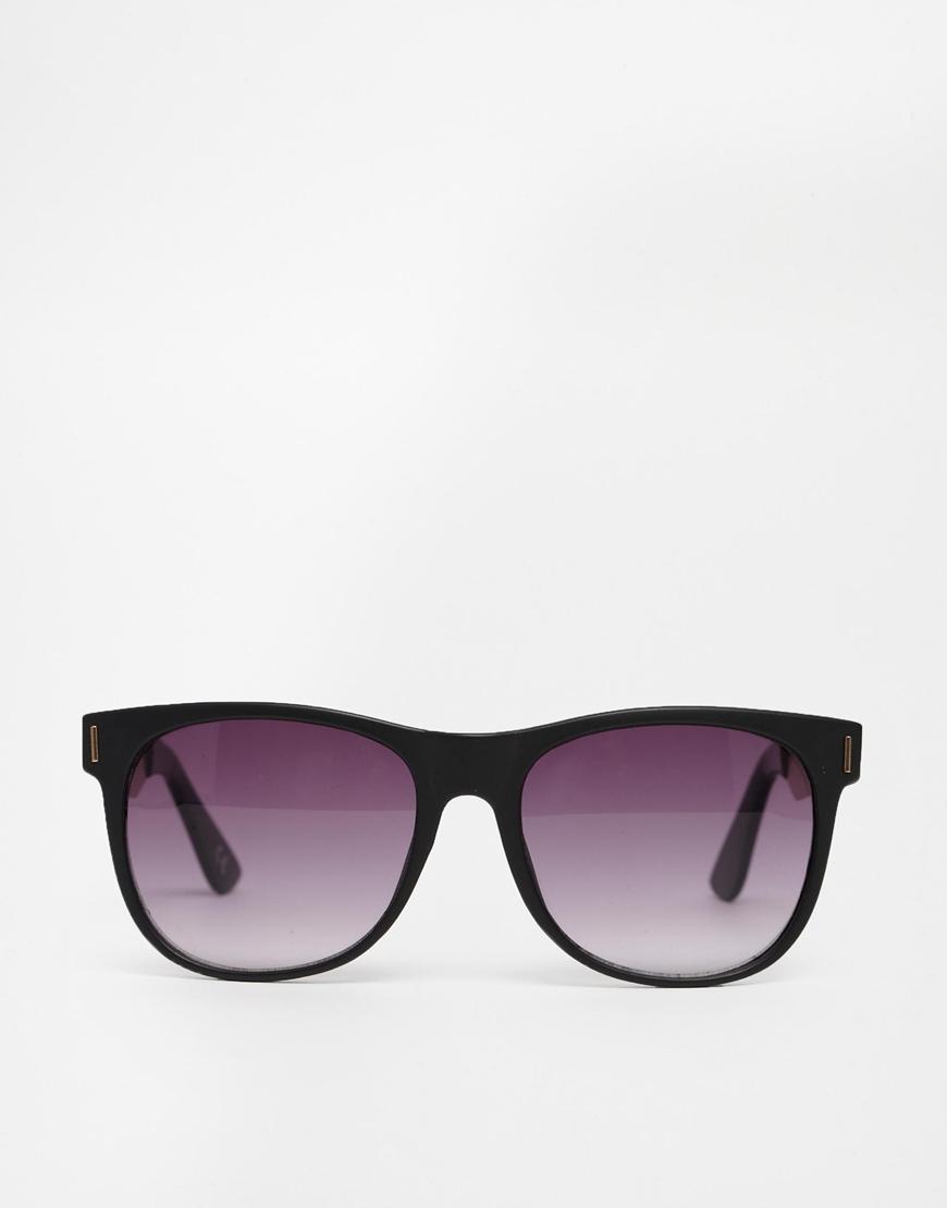 metal wayfarer sunglasses  Asos Wayfarer Sunglasses With Metal Arm in Black for Men