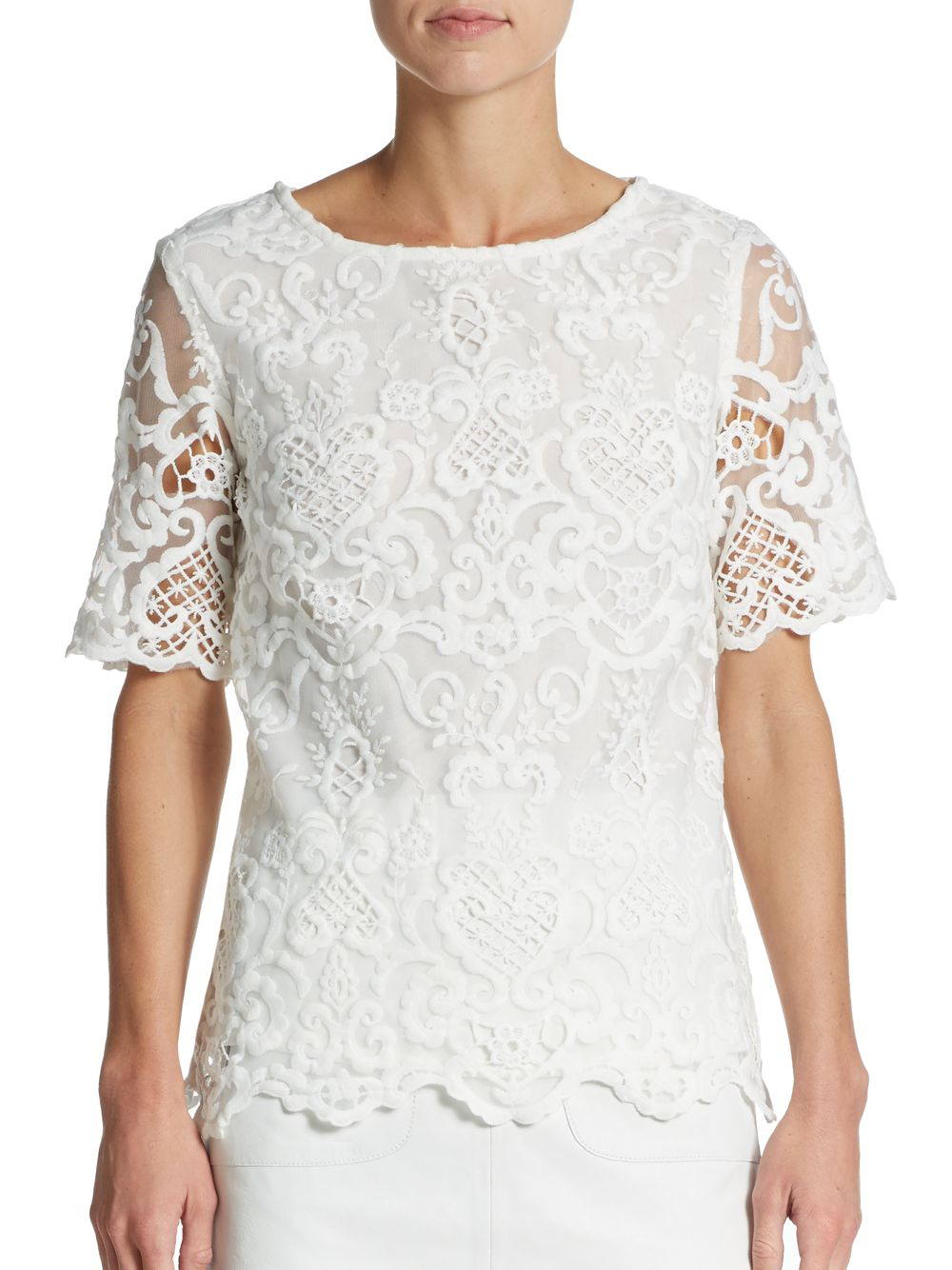 Womens French White Blouse 91