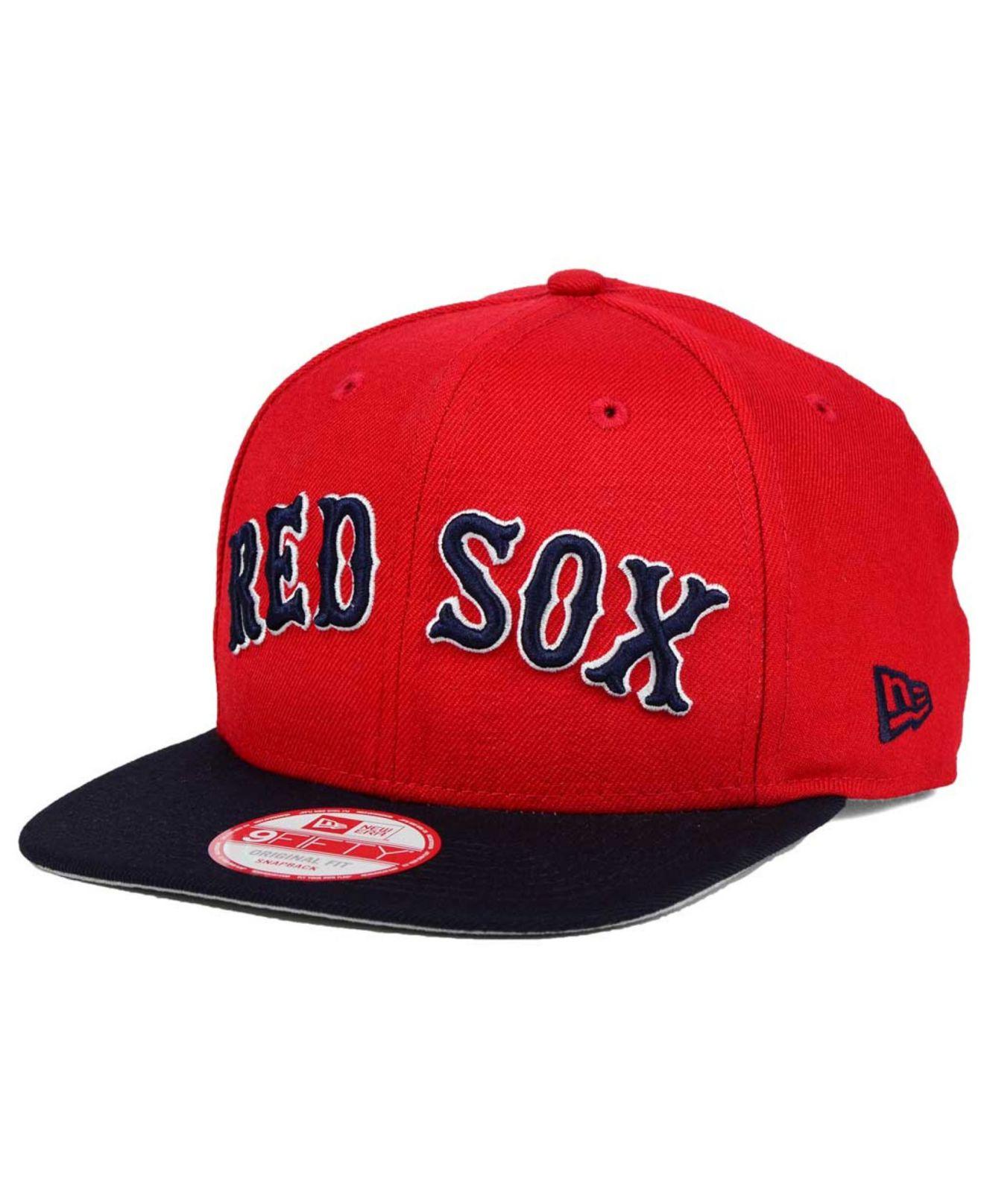 49f92a0afca ... blue for men 45bb6 0516f  where to buy lyst ktz boston red sox xl  script 9fifty snapback cap in red for