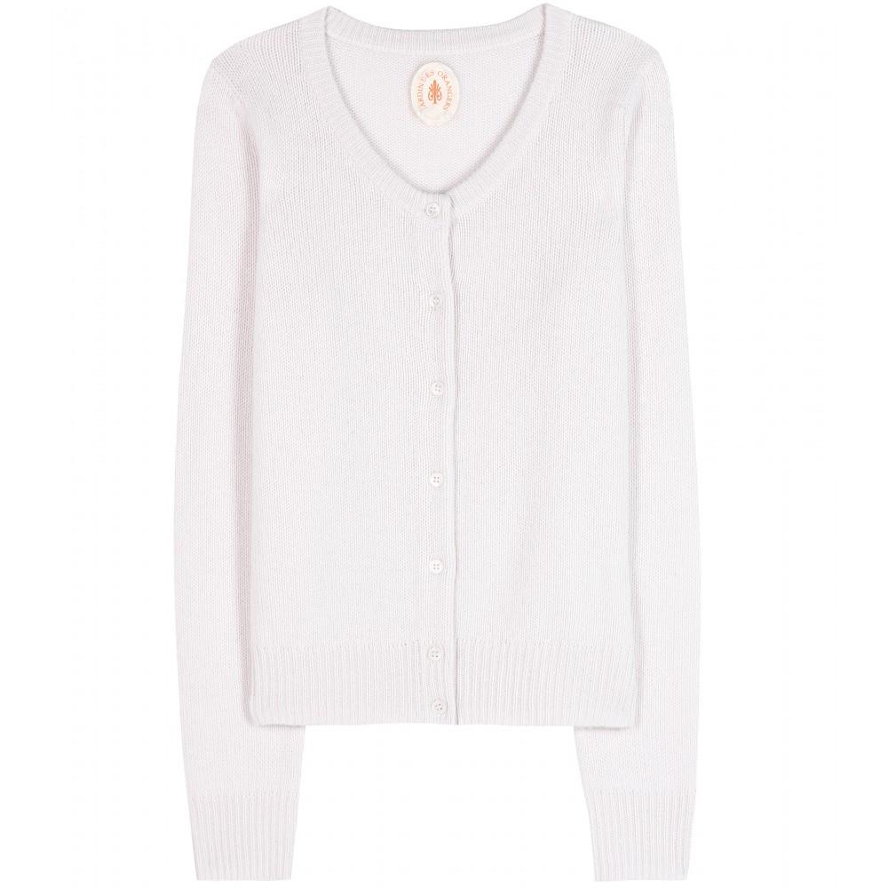Lyst jardin des orangers cashmere cardigan in white for Calvin klein jardin collection