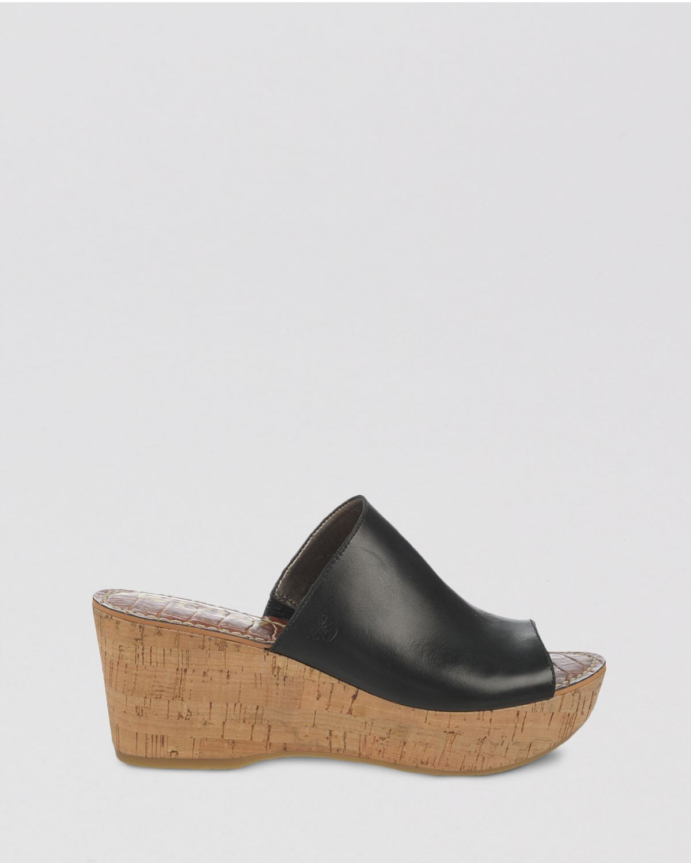 Lyst - Sam Edelman Open Toe Platform Slide Wedge Sandals Remington ...