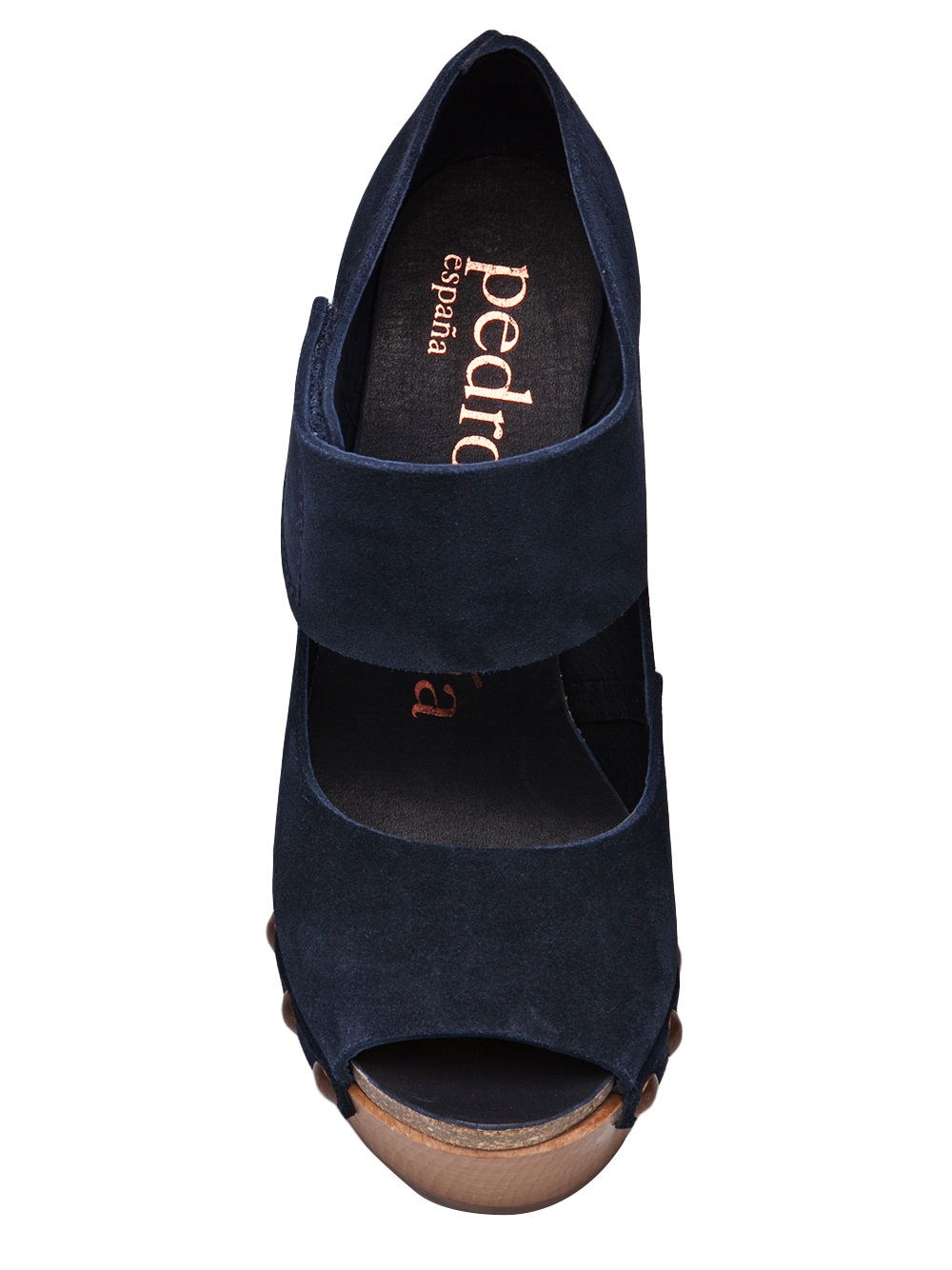 Lyst Pedro Garcia Navy Alessa Shoe In Blue