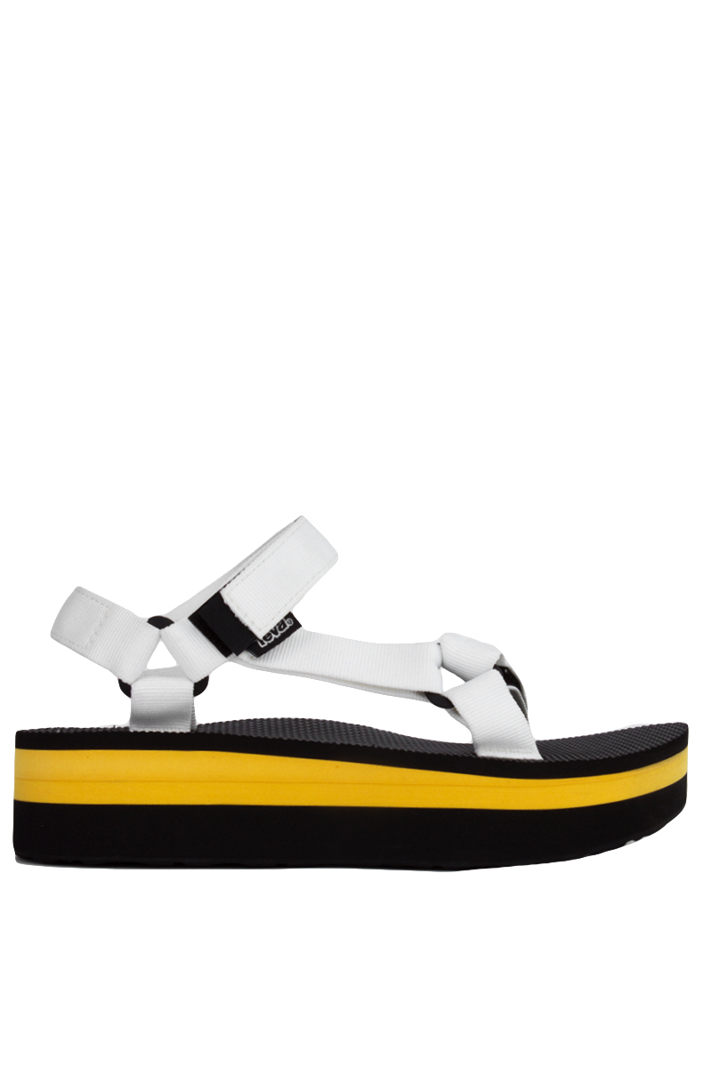 3b14f045671 Teva Women s Original Universal Flatform White Yellow Sandals in ...