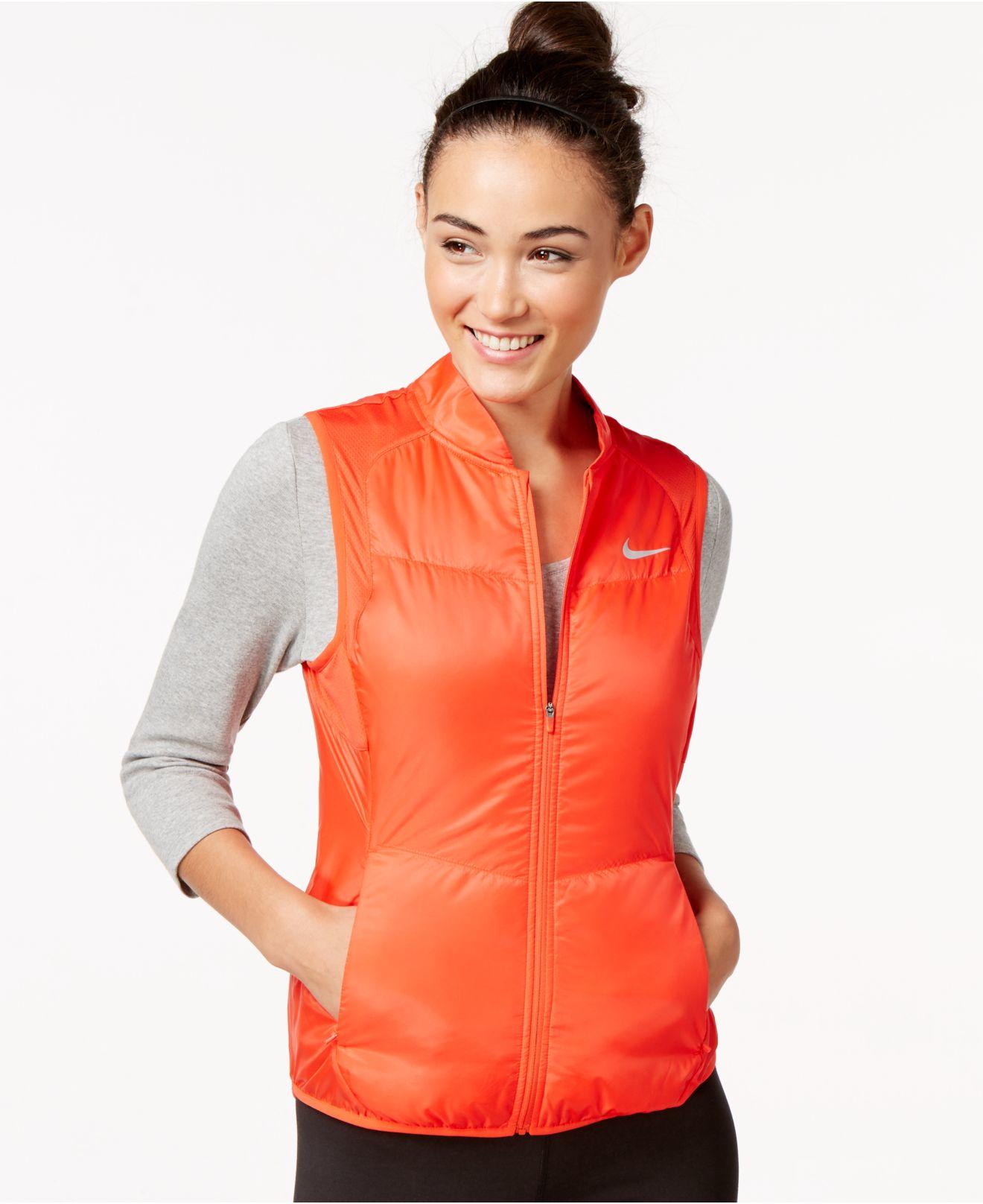 8e4ff247c3bc Lyst - Nike Polyfill Running Vest in Orange