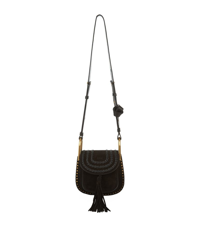 Chlo�� Mini Hudson Suede Crossbody Bag in Black | Lyst