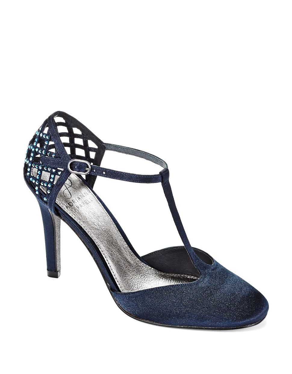 adrianna papell janice t strap pumps in blue lyst. Black Bedroom Furniture Sets. Home Design Ideas
