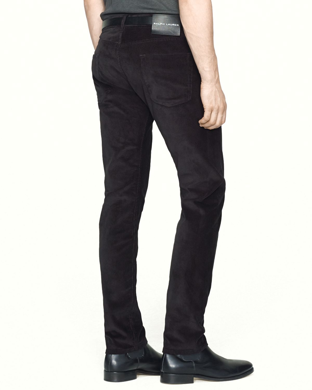 Ralph lauren Black Label Corduroy Pants - Straight Fit in Black ...