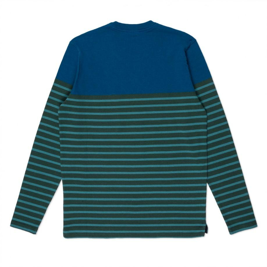 Lyst paul smith green and turquoise stripe textured long Striped long sleeve t shirt