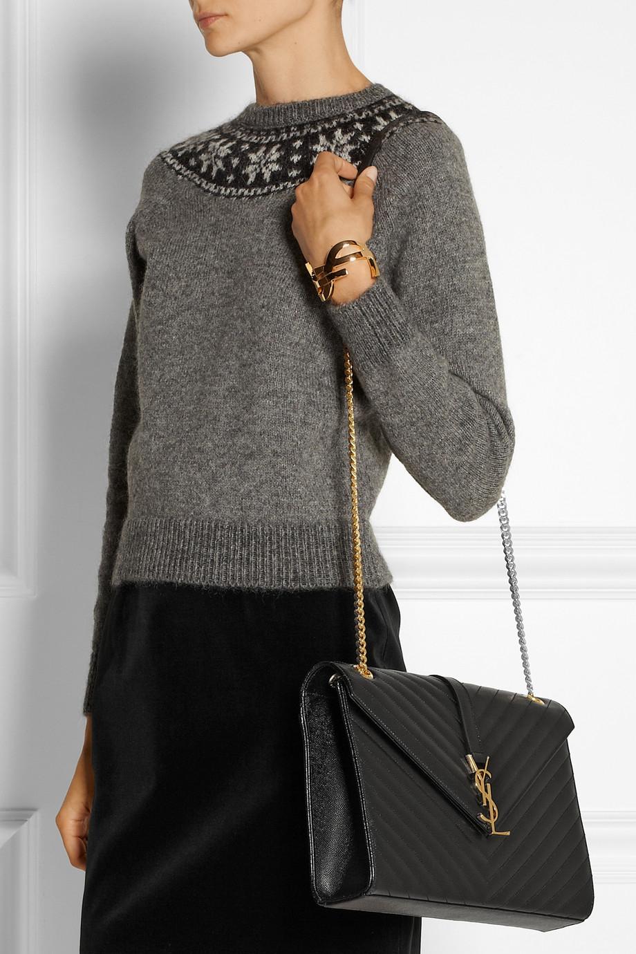 6becdc3d53aa0 Saint Laurent Sunset Small Textured-leather Shoulder Bag