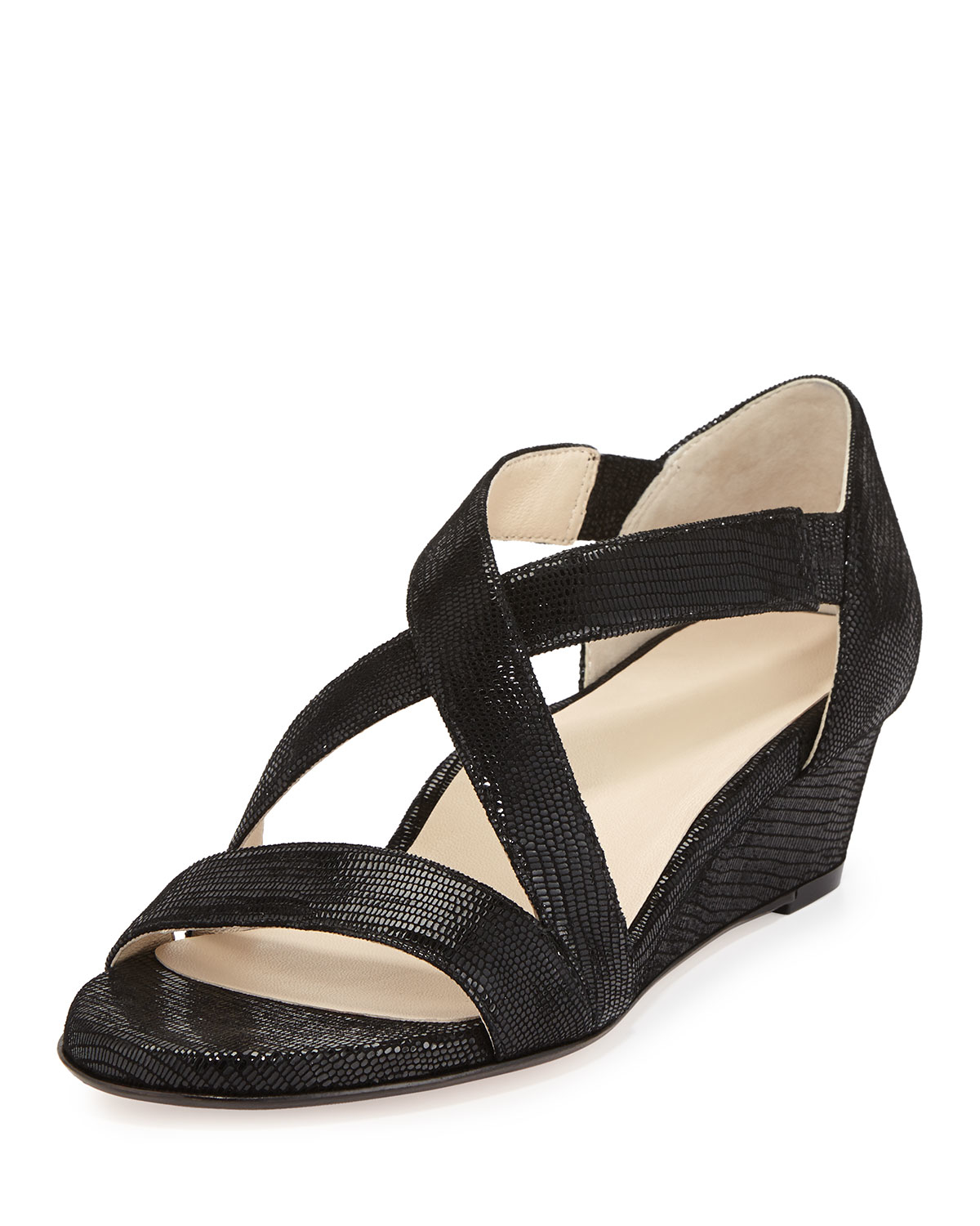saraia low wedge sandals in black lyst