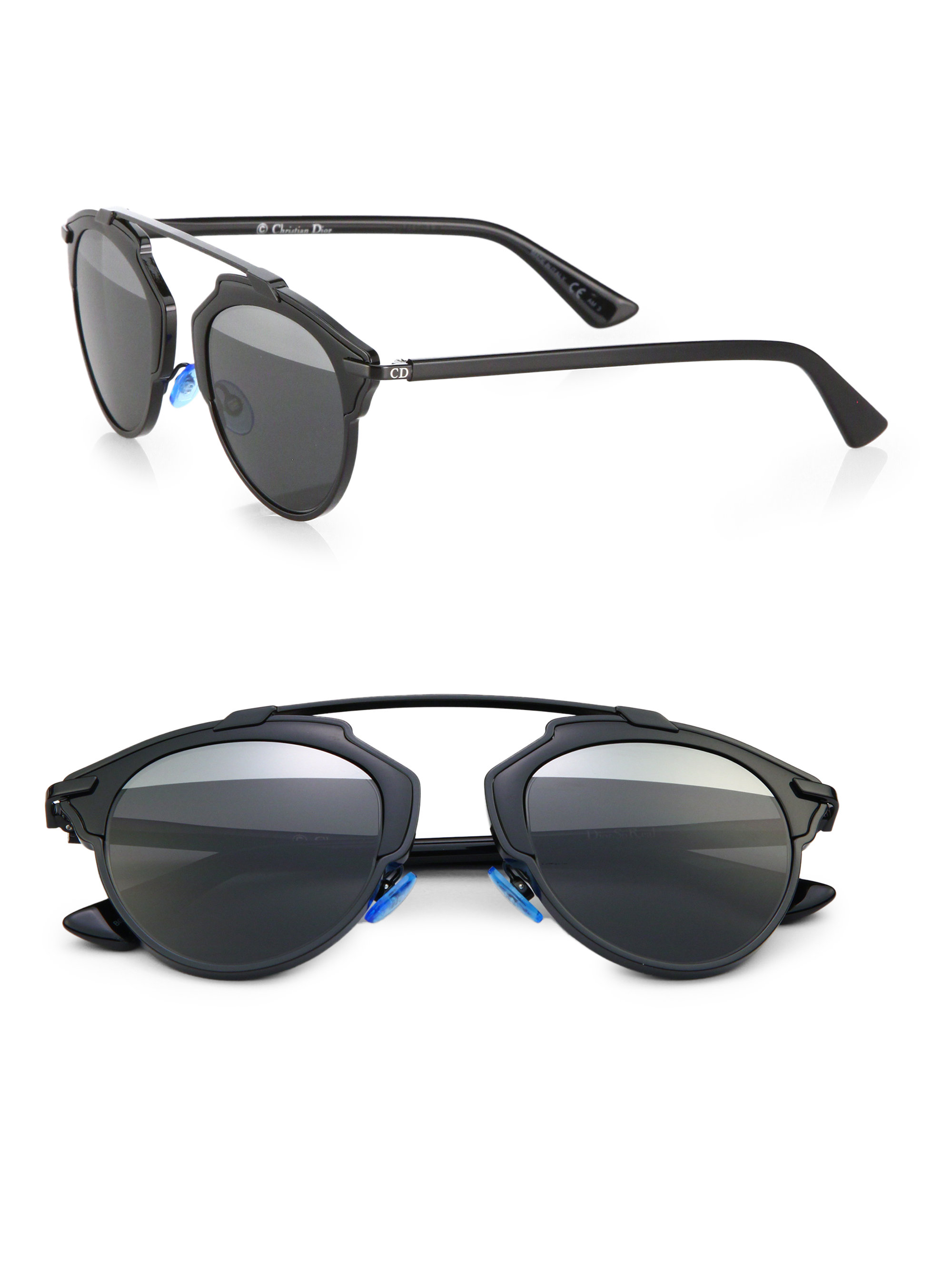 b5879a769c2 Dior So Real Metal   Plastic Sunglasses in Black