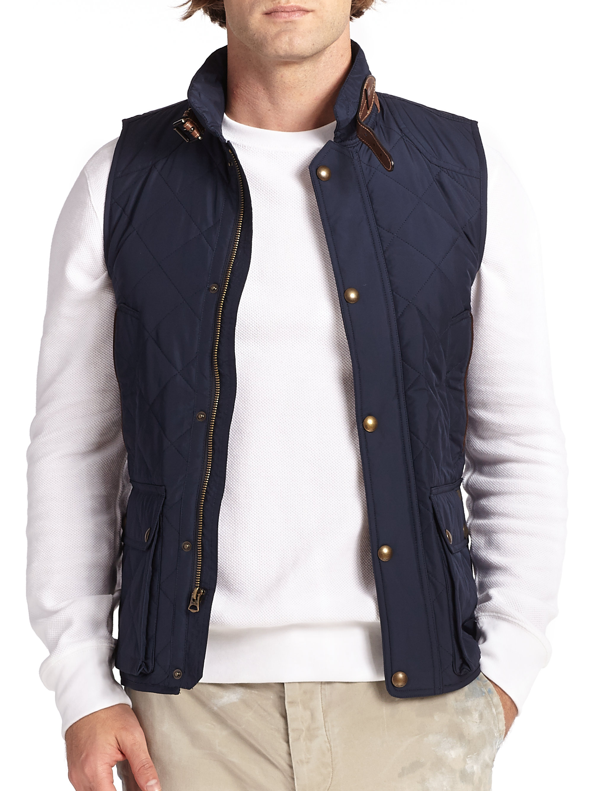 Polo Ralph Lauren Southbury Quilted Vest In Blue For Men