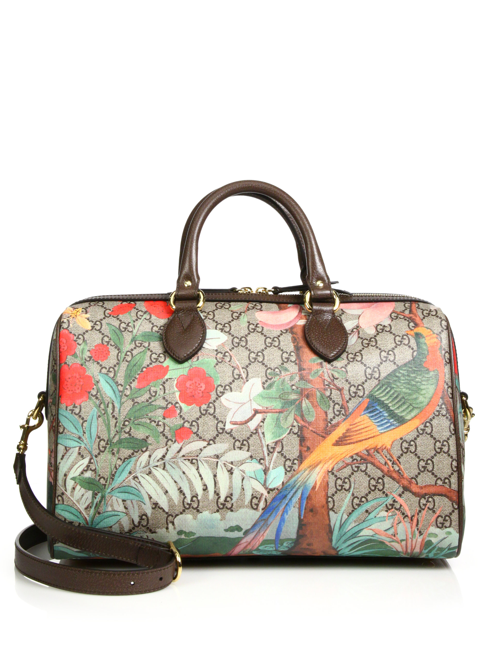 8a573545e51d6a Gucci Tian Gg Supreme Top-handle Boston Bag in Multicolor | Lyst