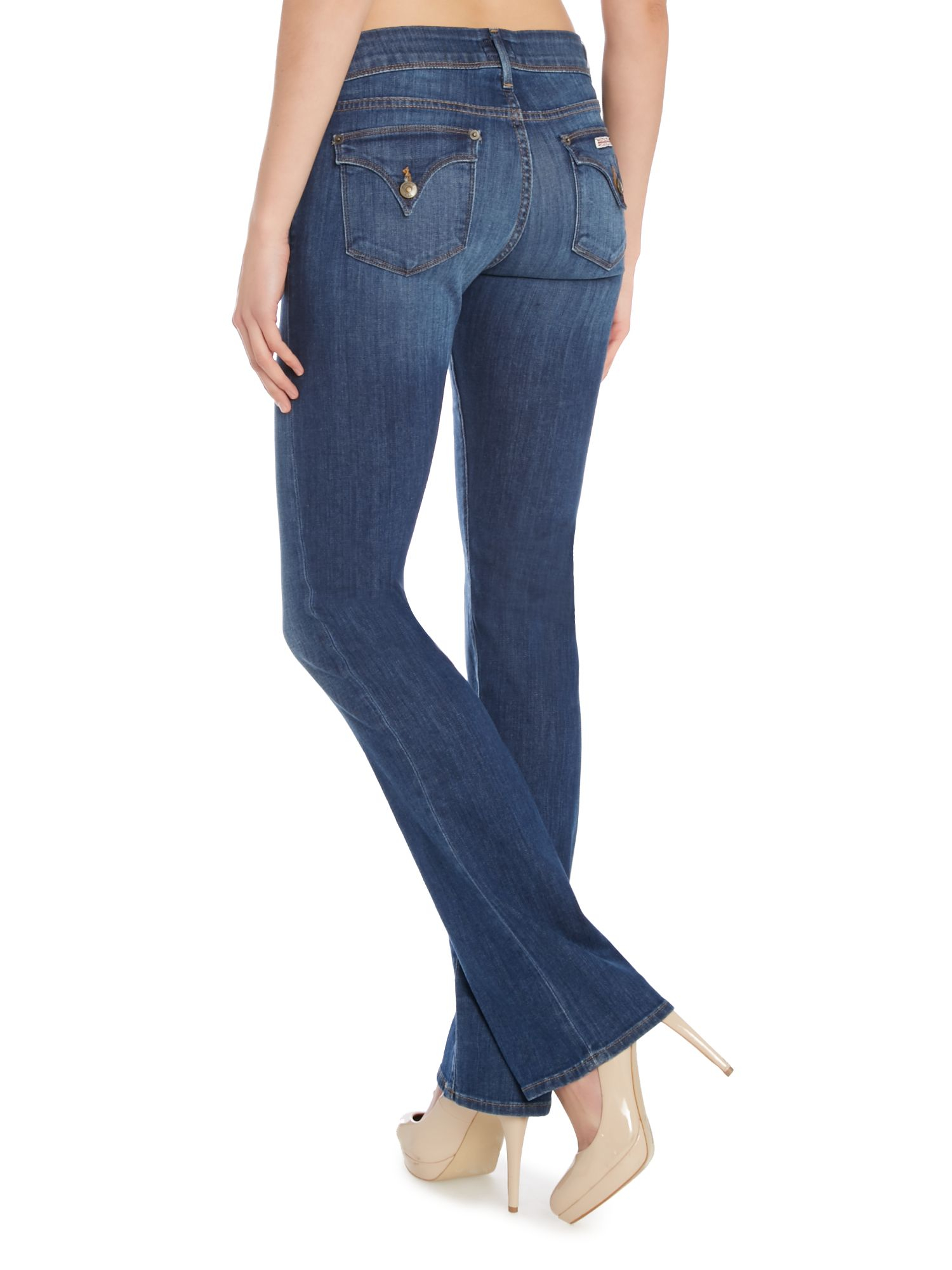 Hudson Jeans Beth Baby Bootcut Jeans In Loveless In Blue
