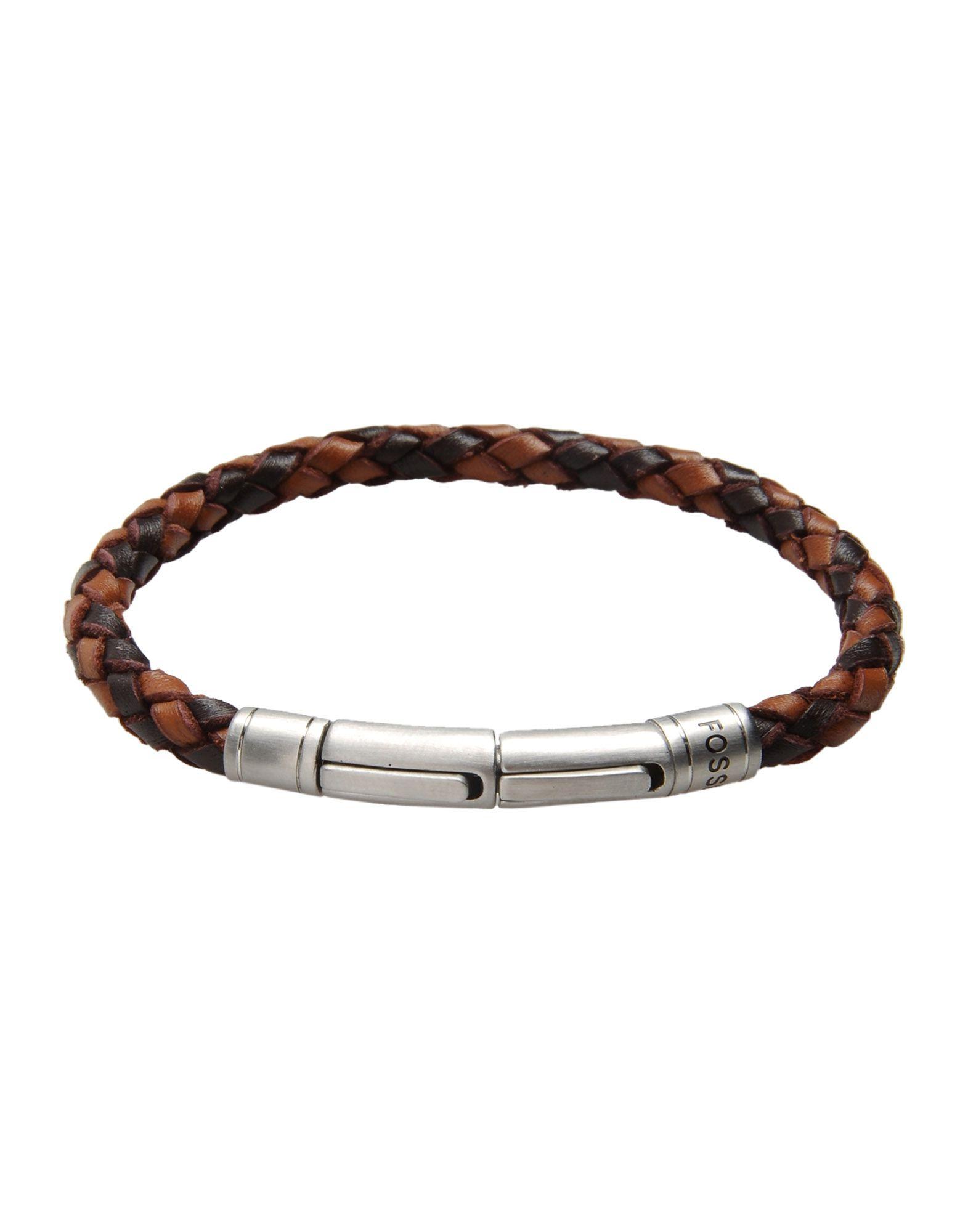 fossil bracelet in brown lyst