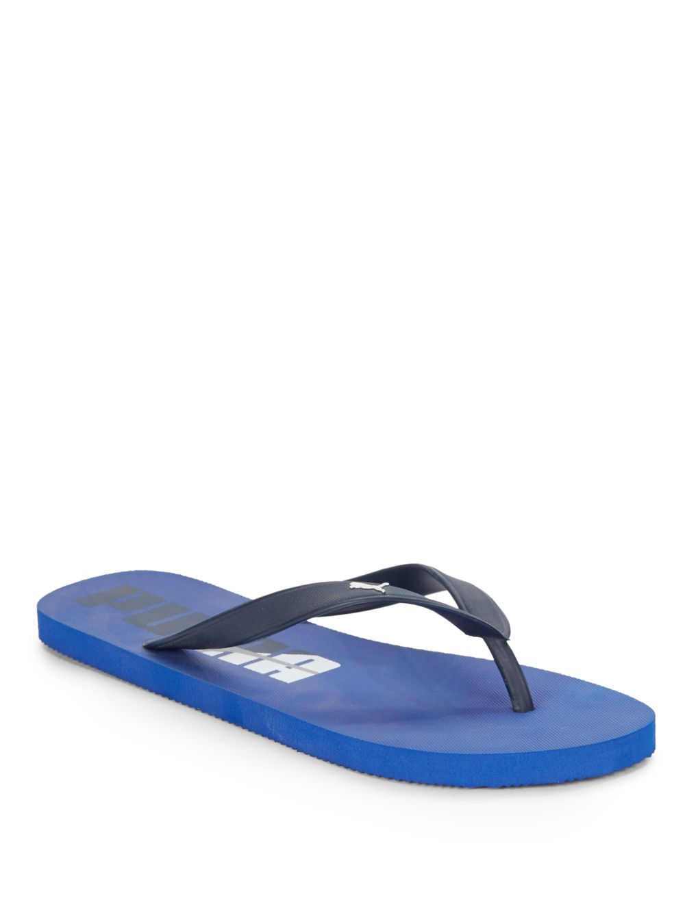 puma rubber flip flops in blue for men bright blue lyst. Black Bedroom Furniture Sets. Home Design Ideas