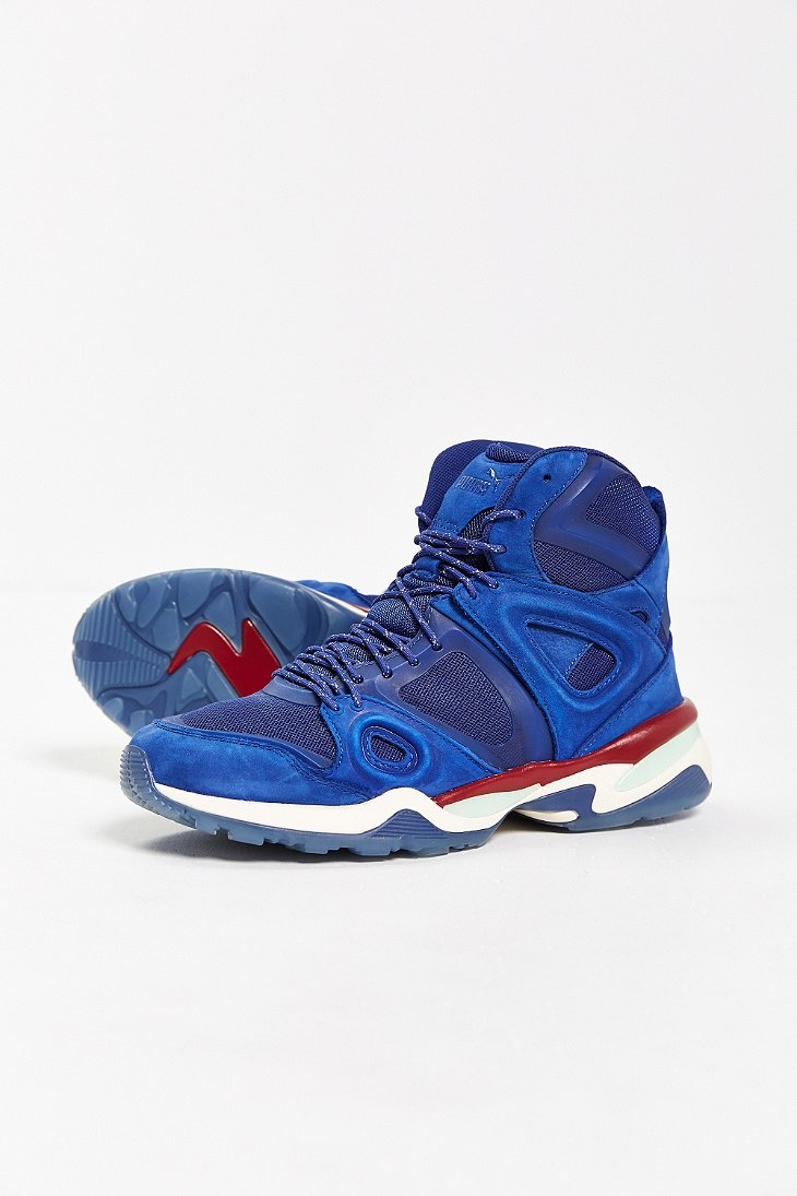103b0686951 Lyst - PUMA X Alexander Mcqueen Run Mid-Top Sneaker in Blue for Men