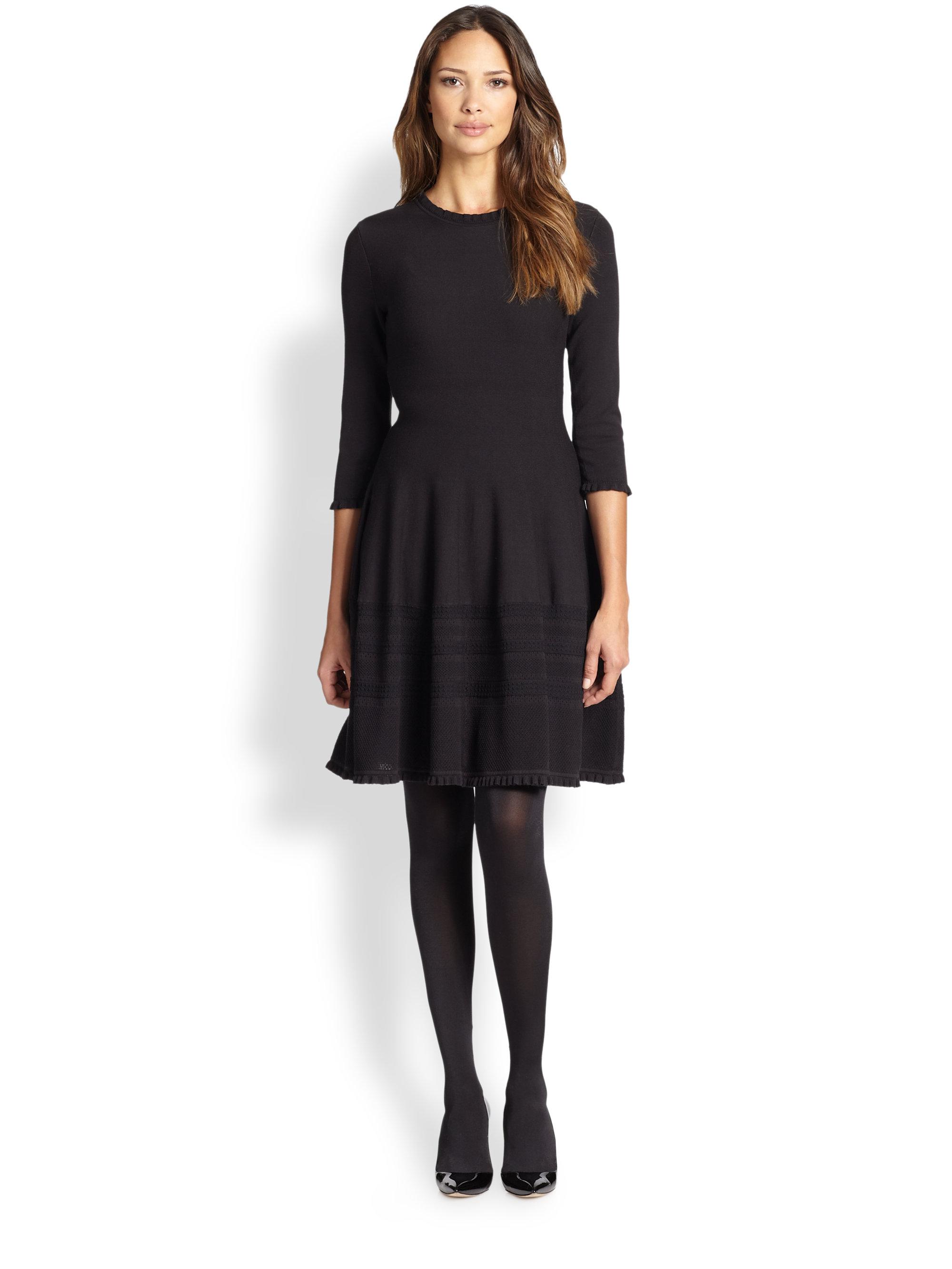 Womens Black Tunic Sweater