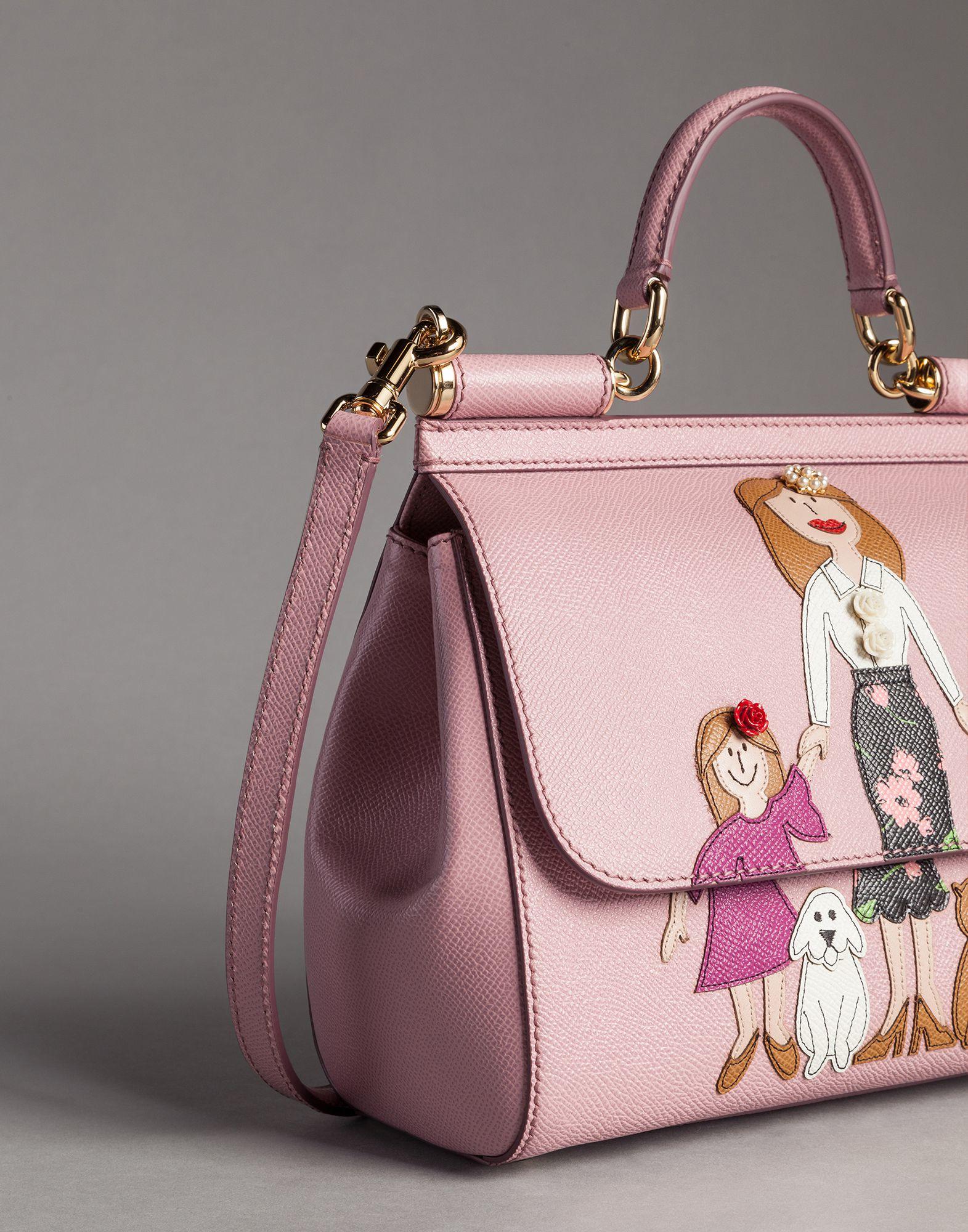 Lyst - Dolce   Gabbana Medium Dauphine Calfskin Sicily Bag With ... 7c08a5a53e820