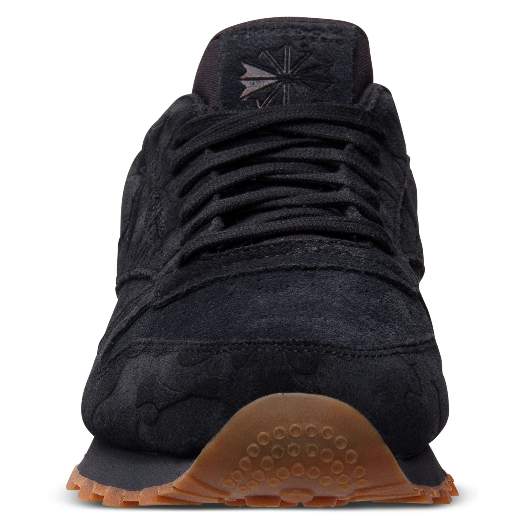 reebok classic black leather mens shoes
