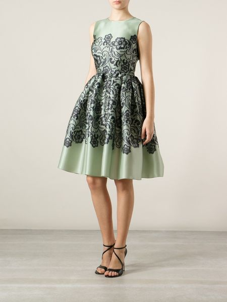 Dolce Amp Gabbana Floral Paisley Print Dress In Green Lyst