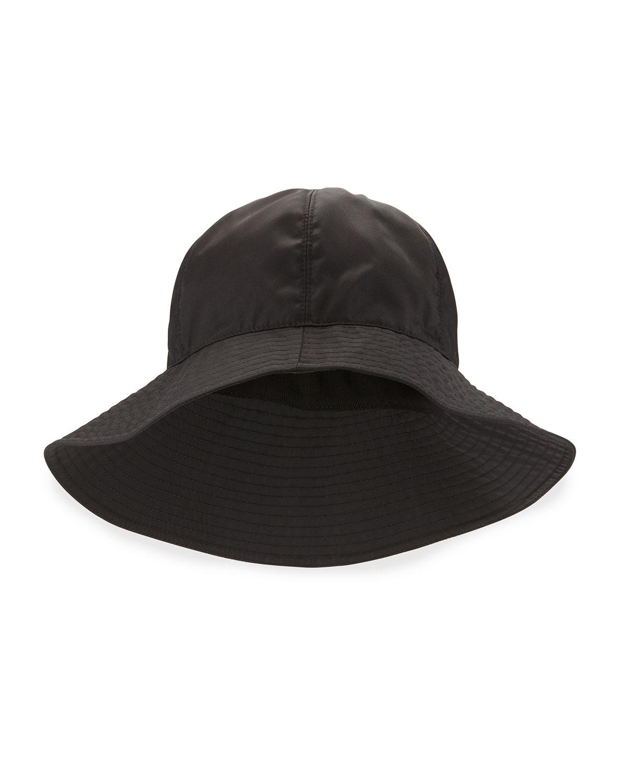 2812422a564 Lyst - Prada Nylon Rain Hat W long Brim in Black
