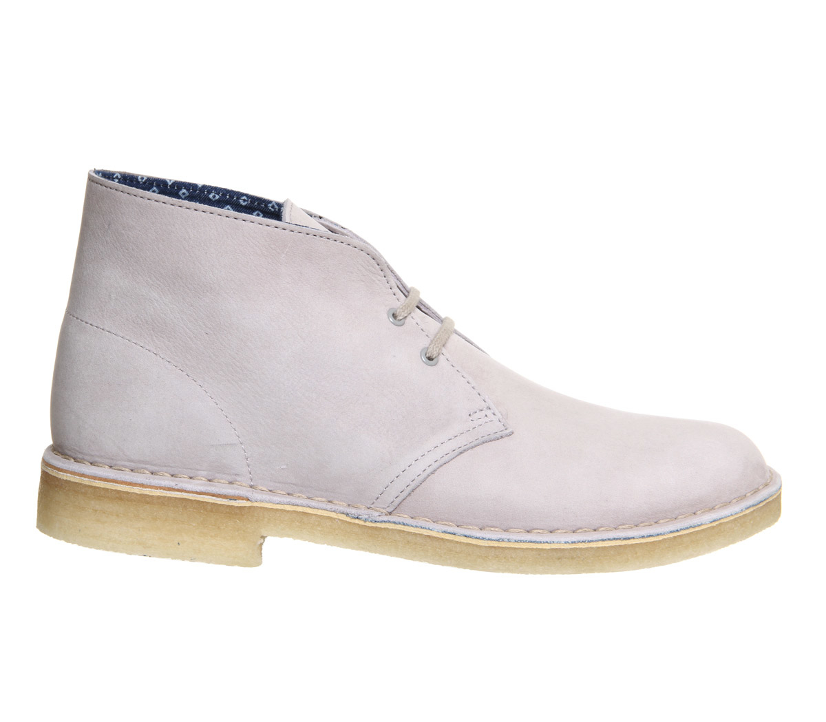 clarks desert boots in white for lyst