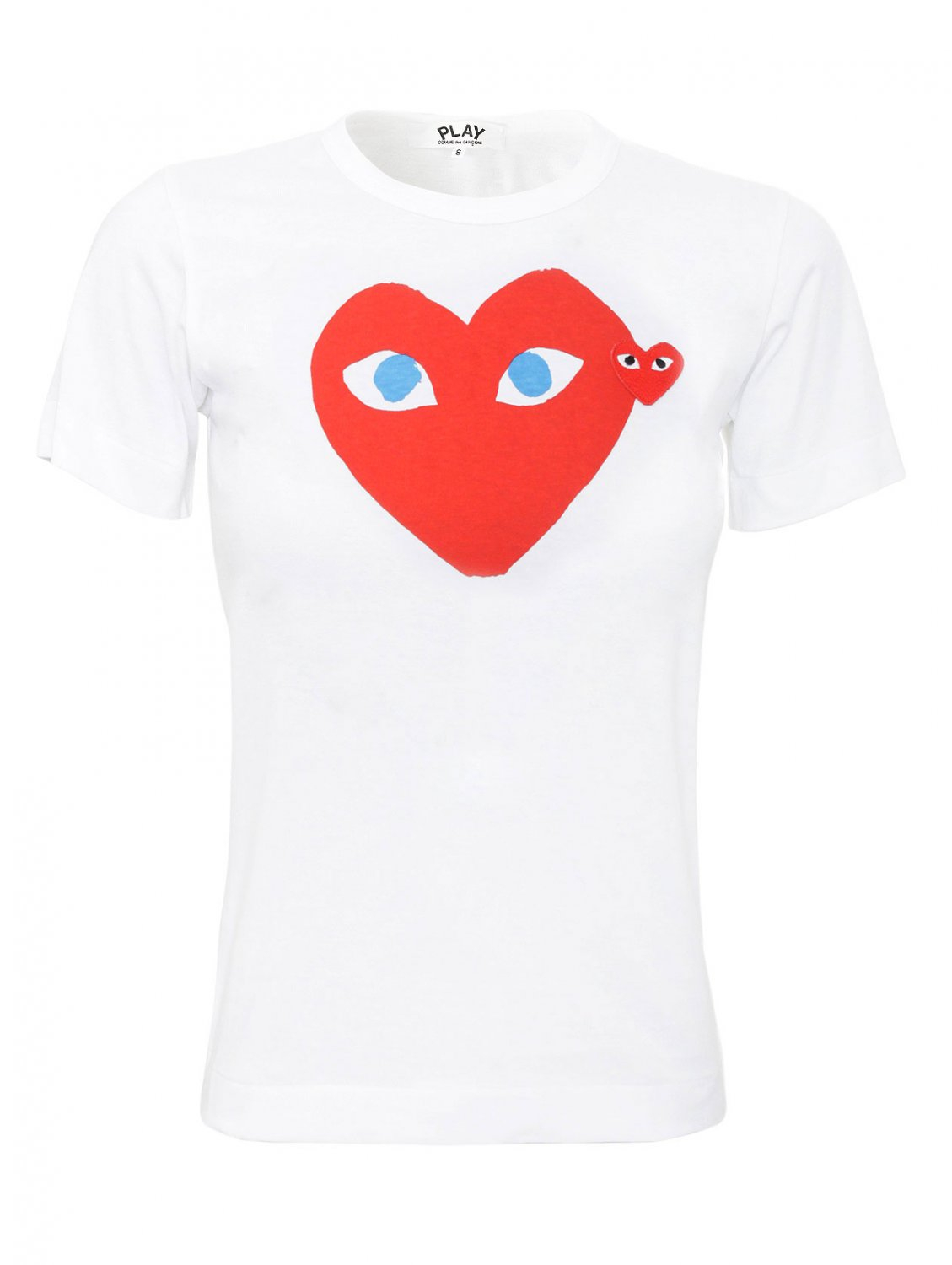Comme Des Gar Ons Play Womens Red Heart T Shirt White In