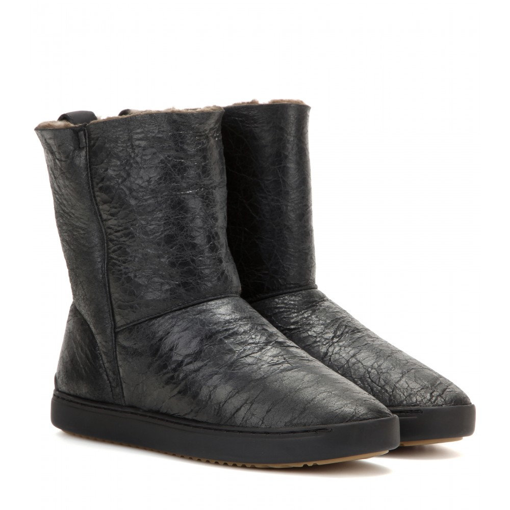 rag bone kali shearling lined leather boots in black lyst