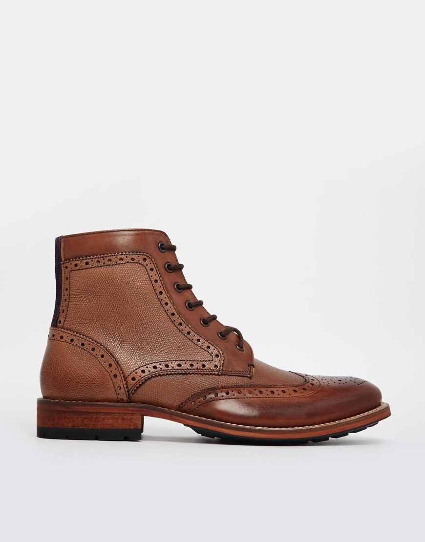 ted baker sealls brogue boots in brown for lyst
