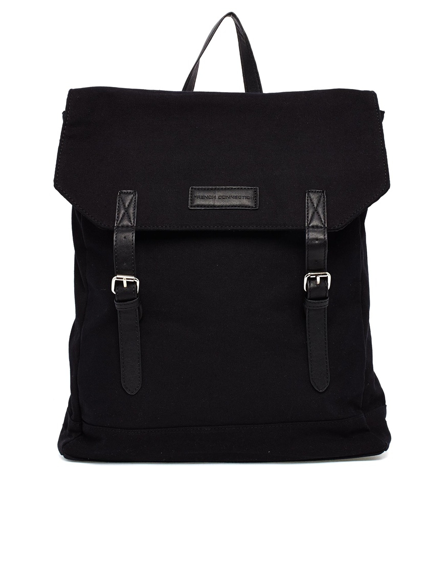 Lyst French Connection Canvas Backpack In Black For Men