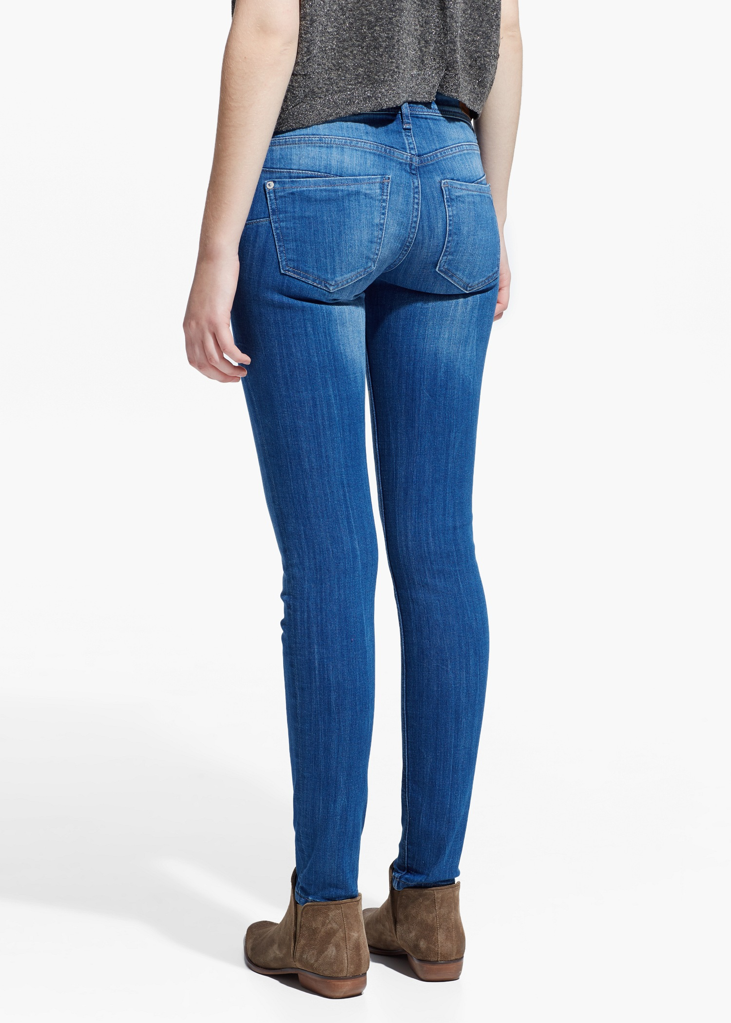 lyst mango push up uptown jeans in blue