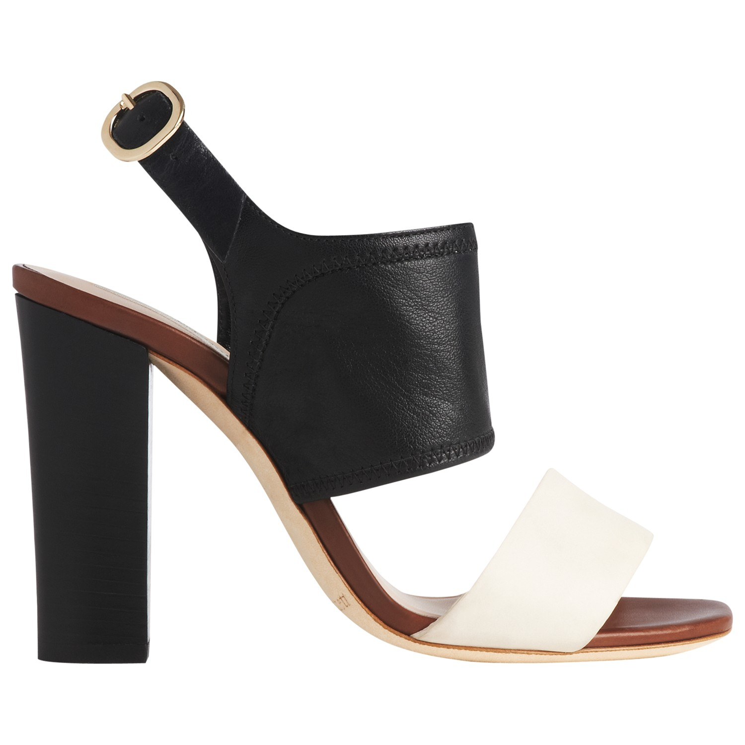 Ivory Thick Heeled Shoes