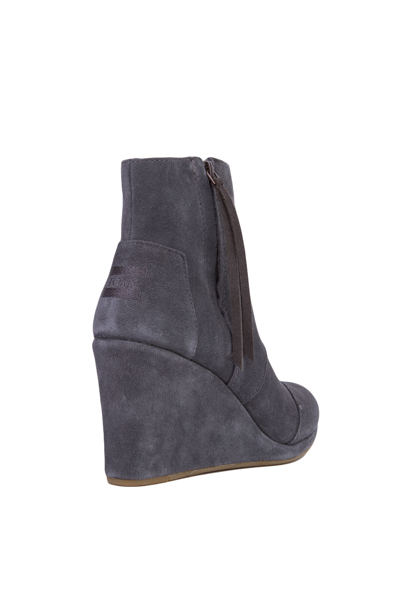 06ba30c9d20 Lyst - TOMS Women s Desert Wedge High Ankle Boots in Gray