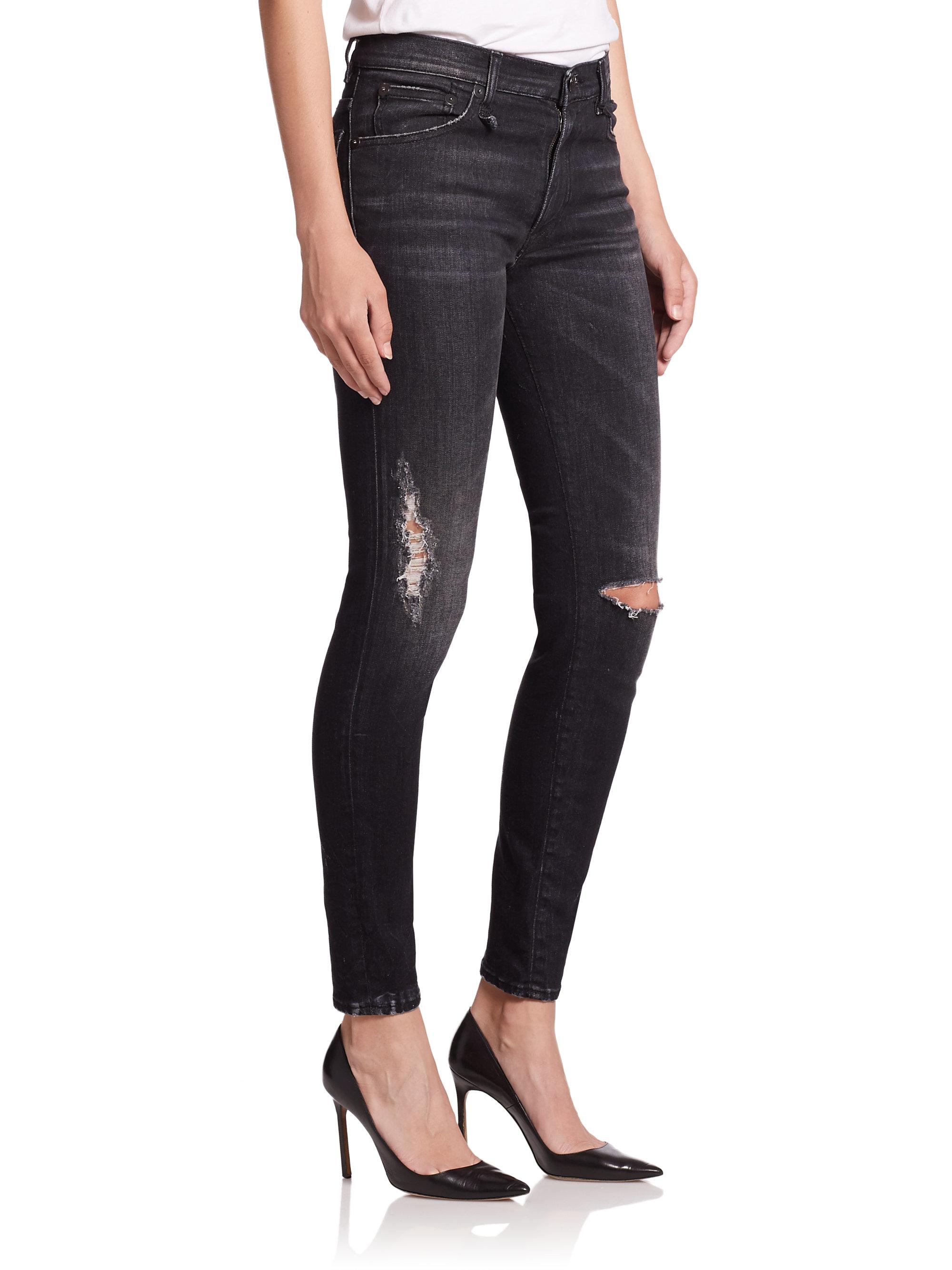 distressed detail jeans - Black R13 v7GIBlbZv