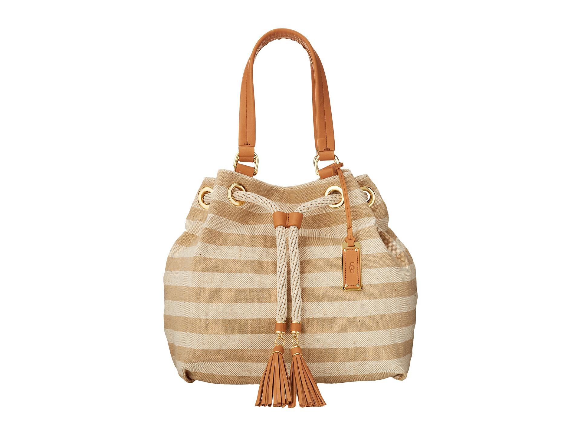 UGG Bags Devan Tote White/Walnut - Handbags