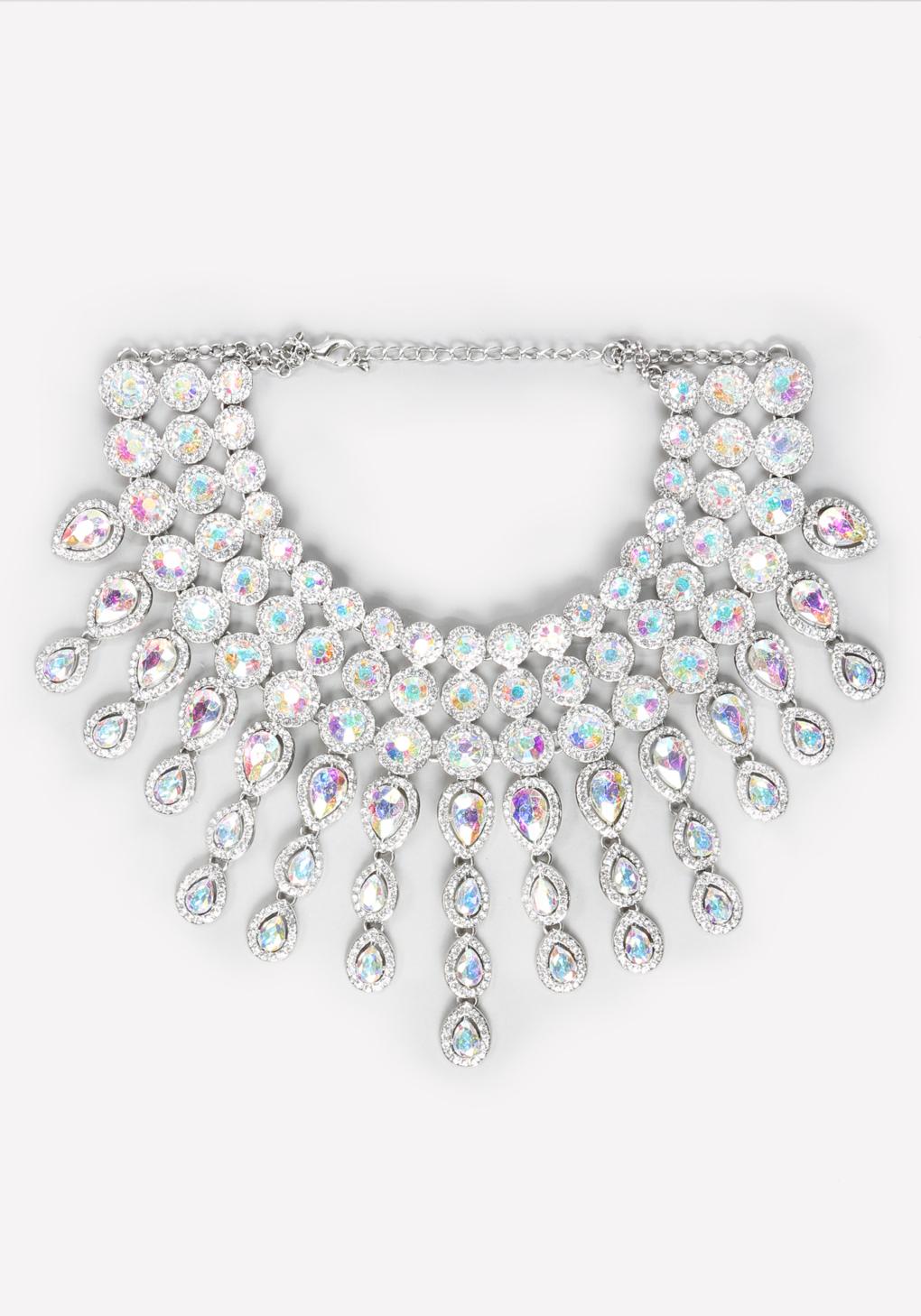 bebe choker necklace in metallic lyst