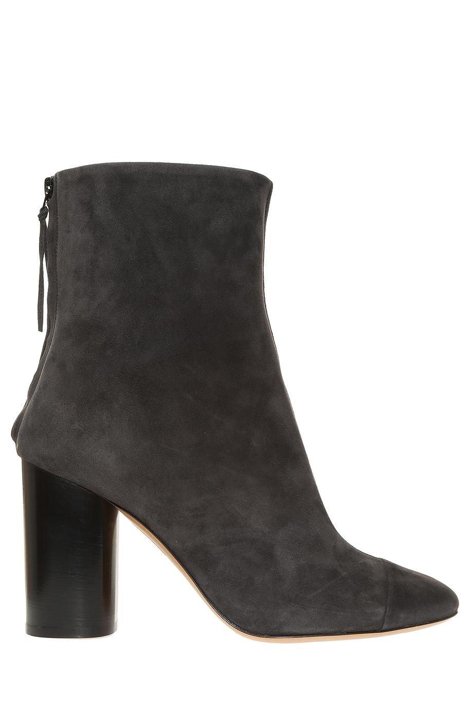 isabel marant grover suede ankle boots in black lyst. Black Bedroom Furniture Sets. Home Design Ideas