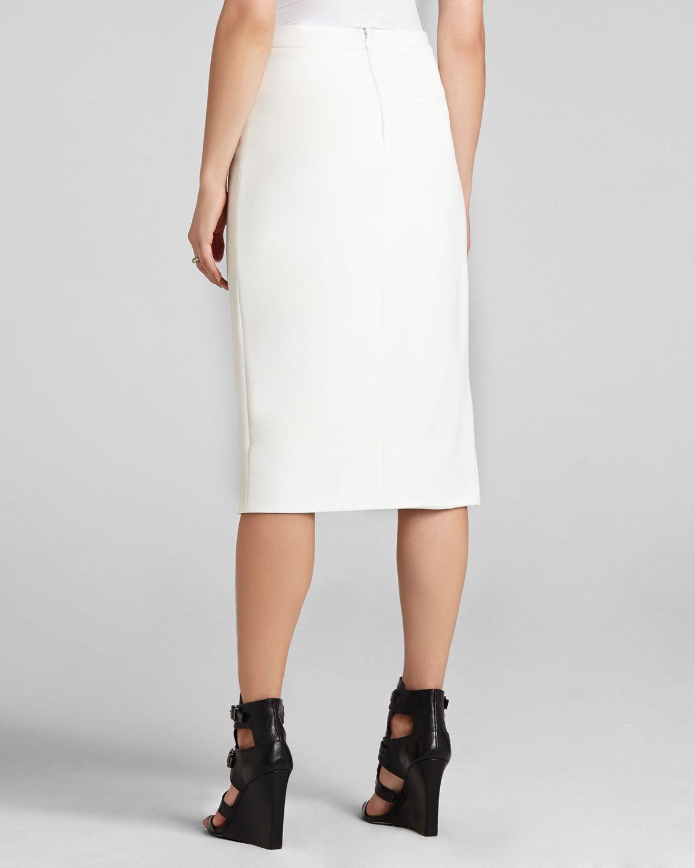 Bcbgmaxazria Bcbg Max Azria Pencil Skirt Grayce in White | Lyst