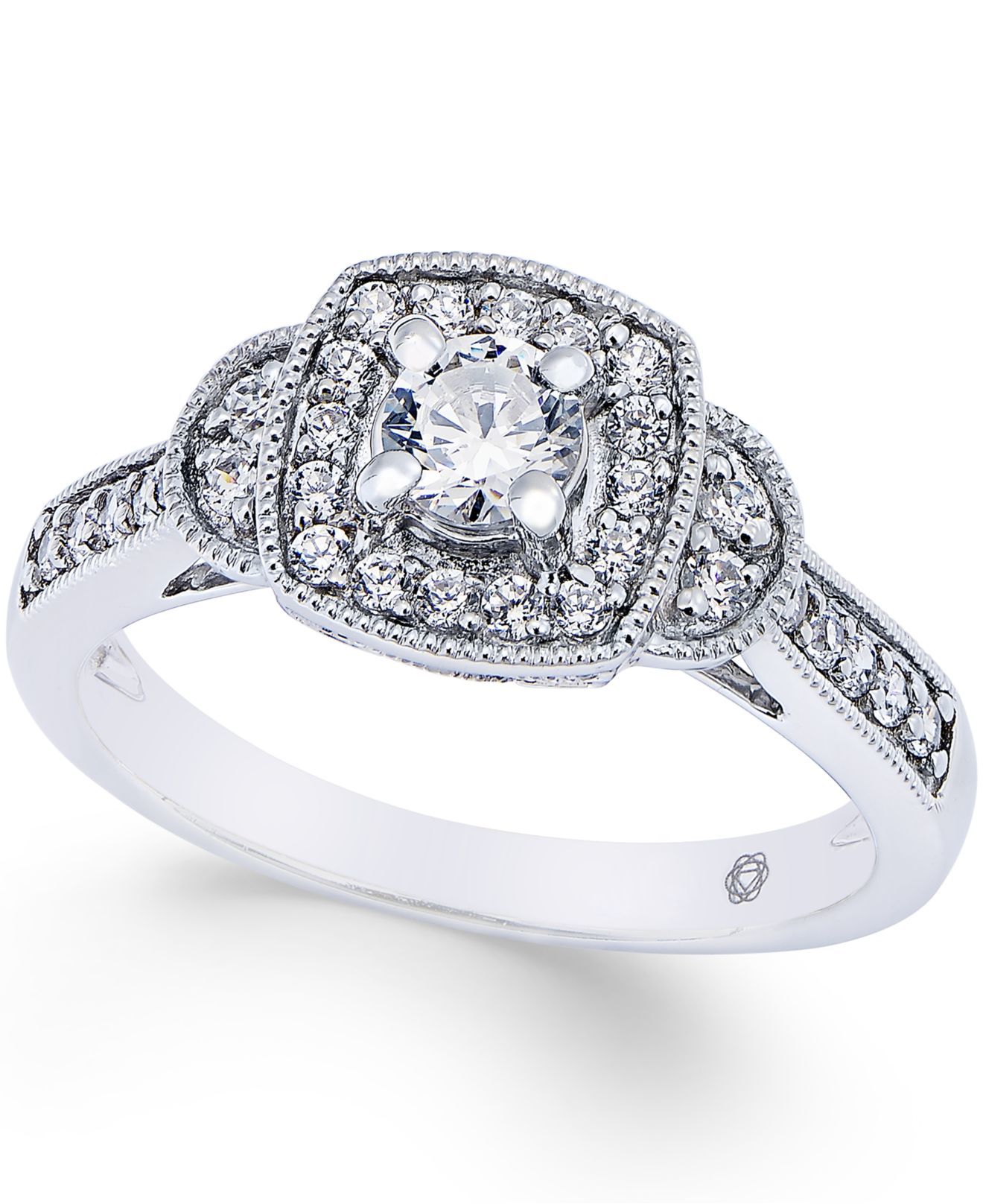 macy s engagement ring 1 2 ct t w in 14k white
