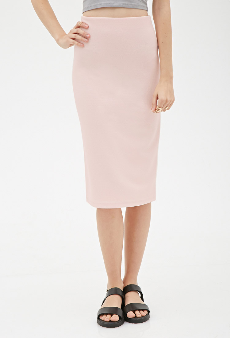 16ac5f7f72 Forever 21 Crepe Pencil Skirt in Pink - Lyst