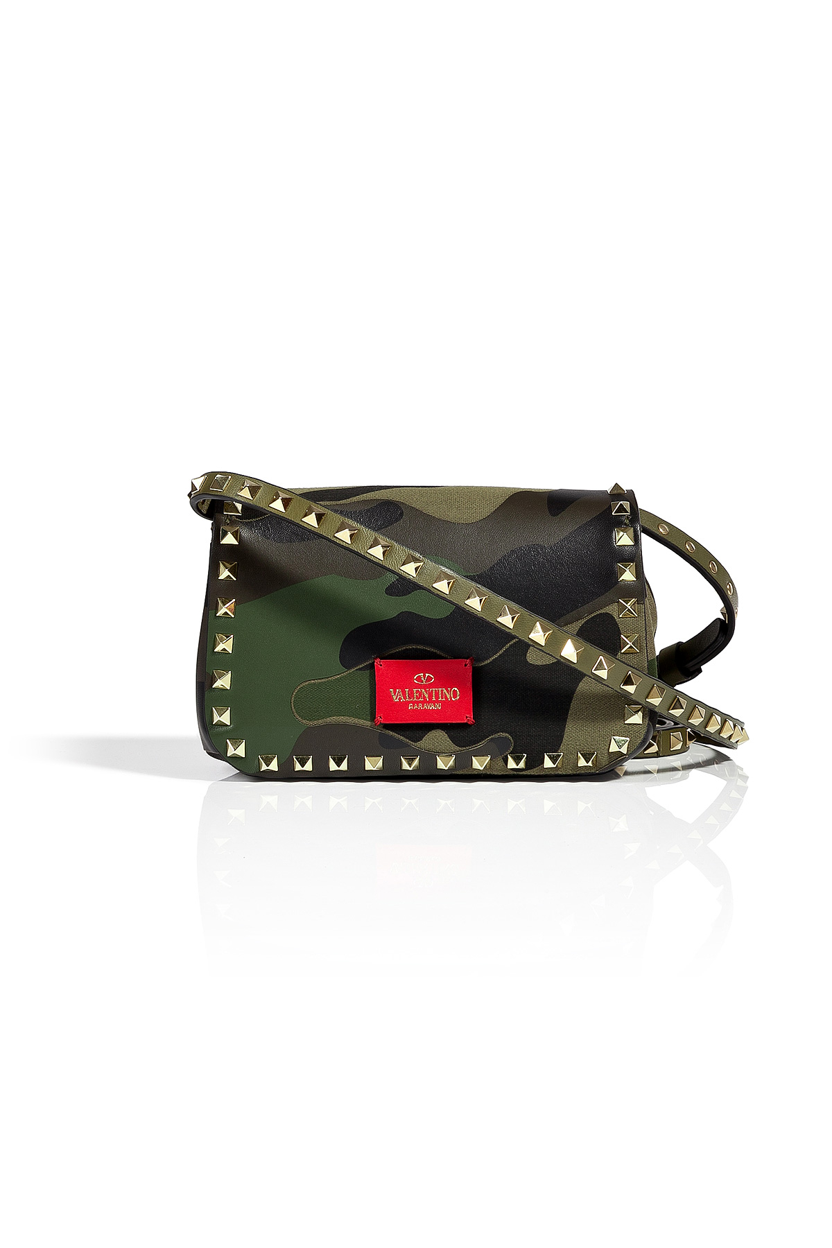 Camouflage-print quilted cross-body bag Valentino 9EFCl3G
