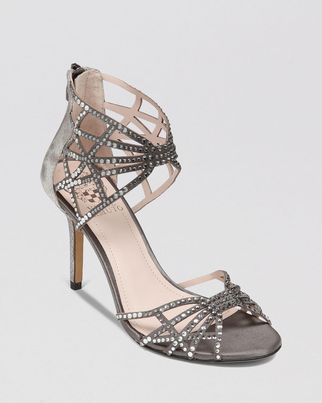 Vince Camuto Evening Sandals Wari High Heel In Gray Grey
